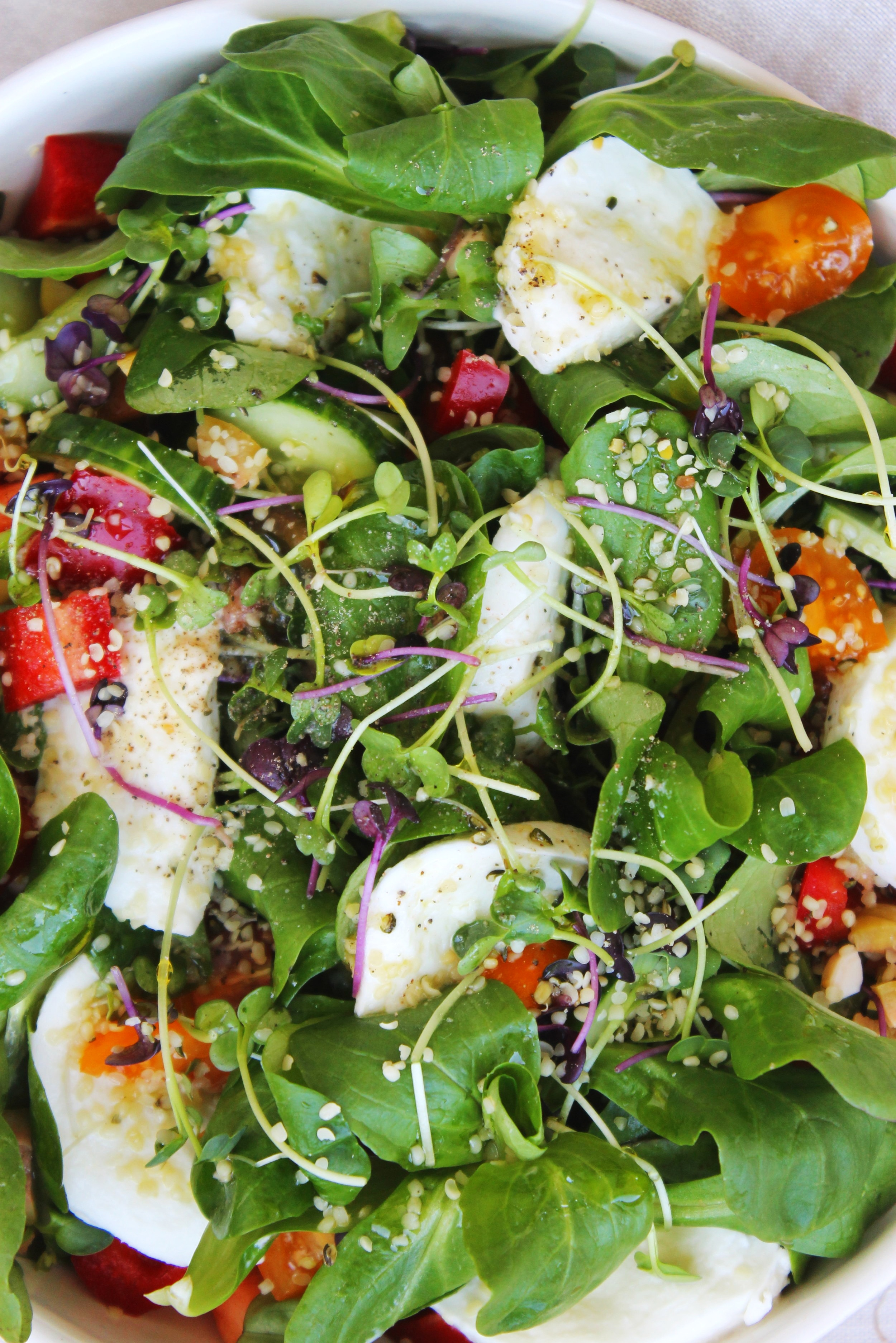 Garden mozzarella di bufala salad | Beloved Kitchen