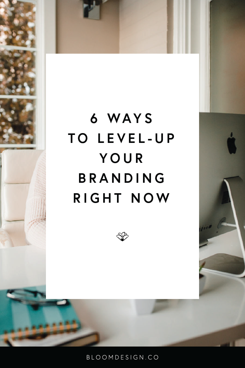 If you're looking to improve your brand design without outsourcing to a professional designer, here are six easy things you can quickly do to turn around your brand and establish yourself online with a solid brand presence. #girlboss #bossbabe #momboss #wahm #sahm #workathomemom #sidehustle #graphicdesign #designer #sidegig #smallbusiness #etsyseller #etsyshop #branding #momtrepreneur