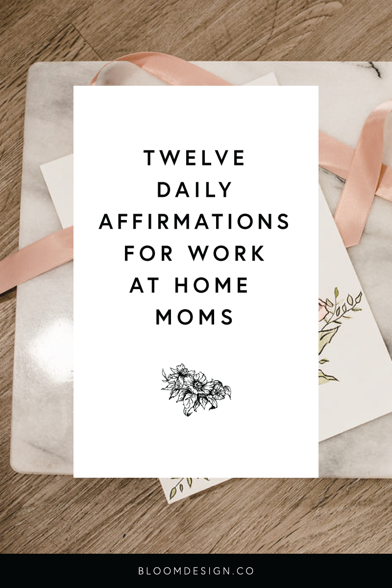 Working from home is hard, not to mention all the pressure of feeling #momguilt from any time you spend not with your children. These are twelve mantras I repeat to myself on a daily basis to stay calm and focused, no matter where my priorities lay at the moment, and it helps me to feel more successful in all areas of life. #momboss #bossbabe #girlboss #creativepreneur #mompreneur #momtrepreneur #sidehustle #sidegig #creativebusiness #etsyshop #etsyseller #wahm #workathomemom #dailyaffirmations #affirmations #lawofattraction