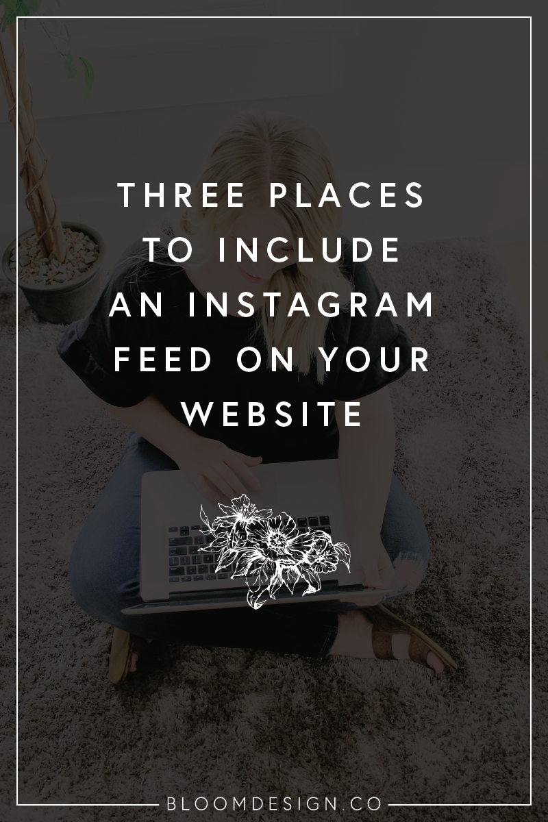 Grow your Instagram following by sharing your social handles on other areas online, like by adding a feed of recent Instagram posts to your Squarespace website. #sidehustle #instagram #socialmedia #socialmediamarketing #instagramfeed #linkinbio #squarespace #websitedesign #websitefooter #squarespacehacks #websitedesigner #sidejob #sahm #wahm #momboss #bossbabe #bloomdesignco
