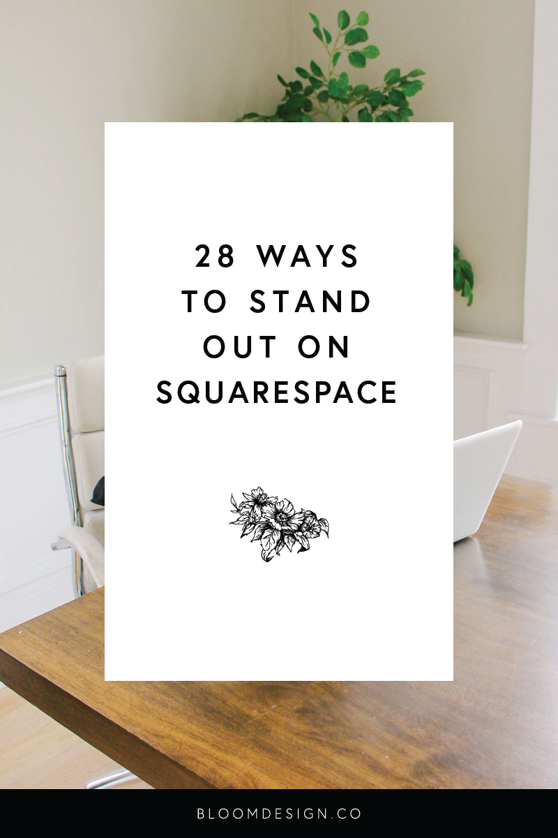 Squarespace is an easily customizable website platform that is perfect for creative side hustlers who don't have a background in website design. Here are some easy ways you can tweak your site to make it unique and set it apart from the competition or the pre-loaded templates! #sidehustle #webdesign #onlinemarketing #seo #squarespace #websitedesign #squarespacehacks #websitedesigner #sidejob #sahm #wahm #momboss #bossbabe #bloomdesignco