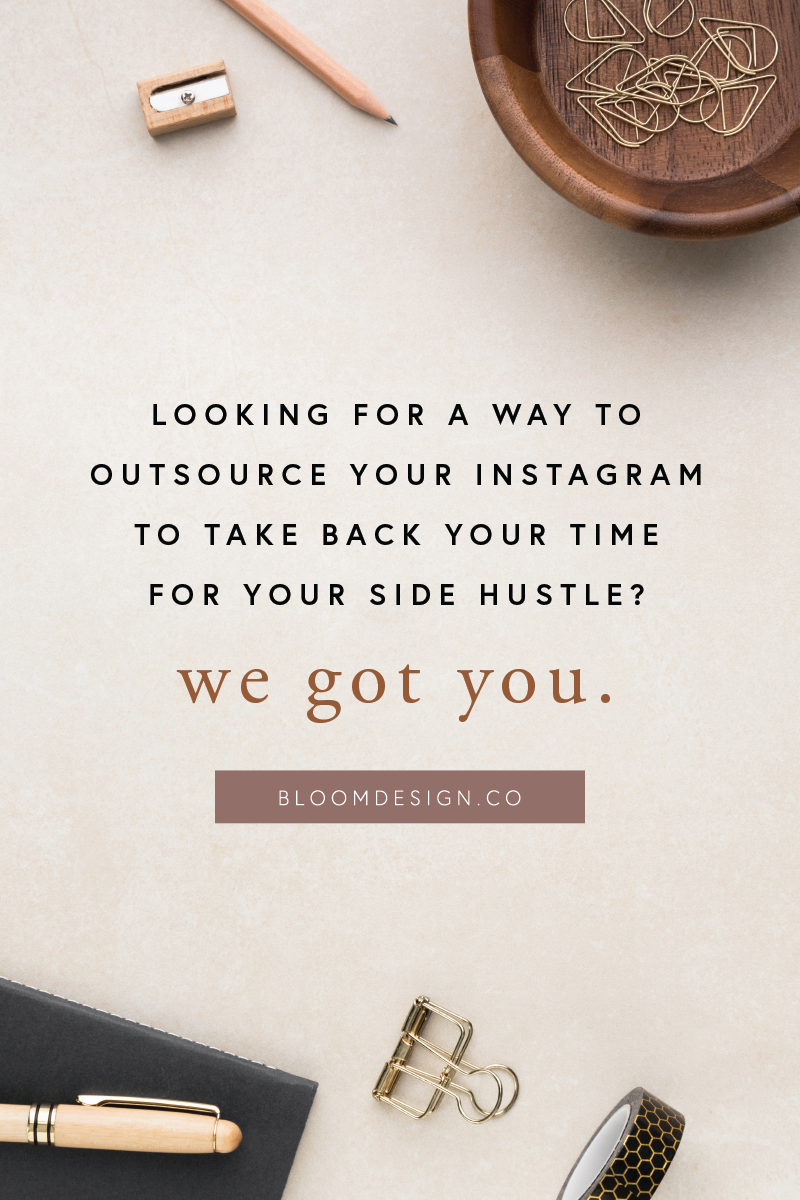 Running a side hustle is a lot of work, and so is keeping up with all the marketing! Let The Bloom Design Company take over your feed planning, scheduling, captioning, and posting to make sure your Instagram game is strong without spending so much time out of your busy day simply planning something to post, without a purpose. Grow your audience without lifting a finger! #bloomdesignco #instagram #socialmedia #virtualassistant #sidehustle #sidegig #momboss #bossbabe #gram #marketing #insta
