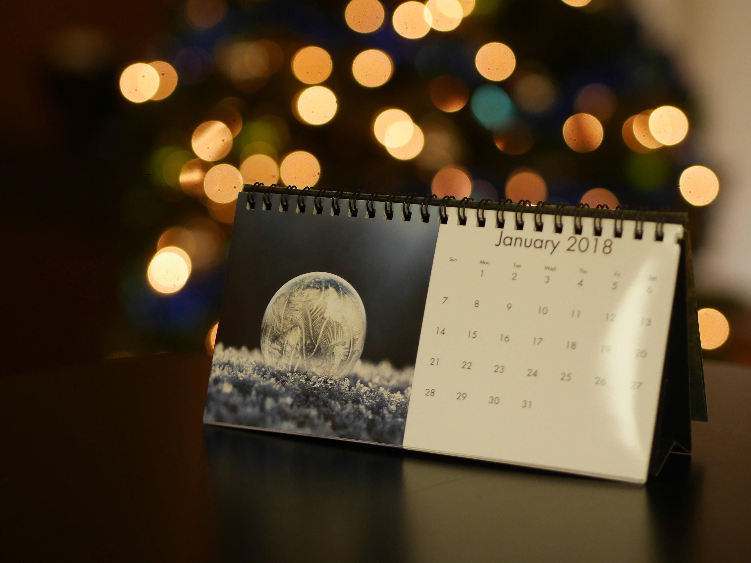 2018 Calendar - by Aaron Burden