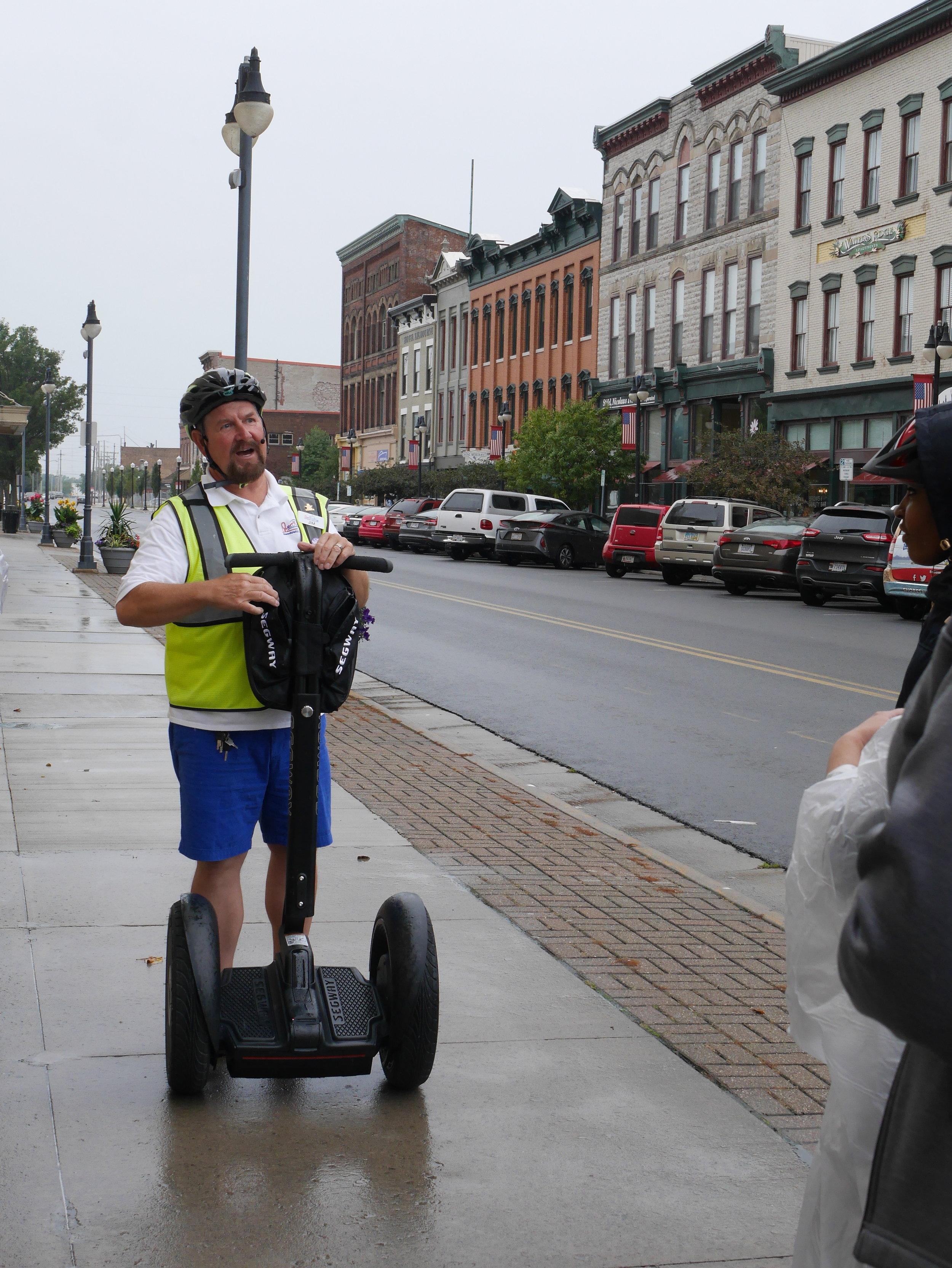 Jim giving us the tour of Sandusky.