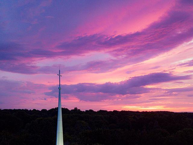 The Heavens Declare || Psalm 19:1 #puremichigan #djimavicpro #sunset