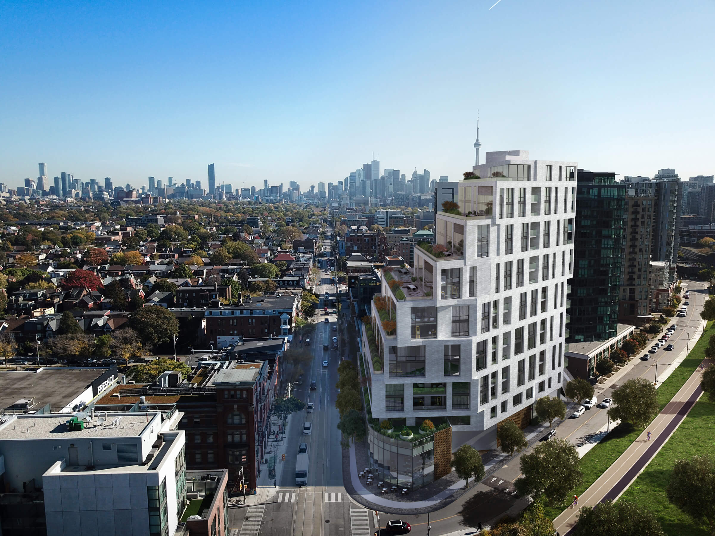 1181 Queen West - Gladstone & Queen • Skale DevelopmentsWith 112 suites, there will be 10 one-bedroom suites, 10 one-bed + den suites, and 92 two-bedroom and two-bedroom + den suites. 1181 Queen Street West will retain it's retail space with over 7,500 sq. ft. of newly built retail space on the ground floor.