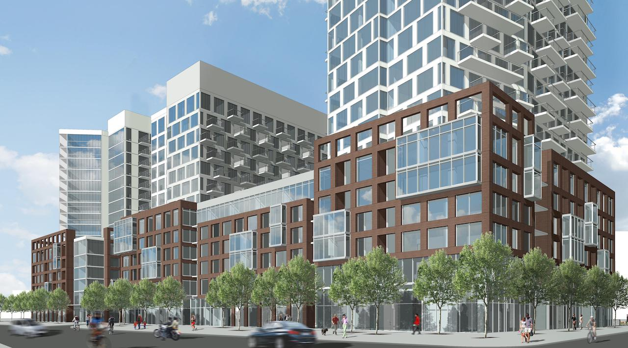 Express Condos - Wilson Avenue • Malibu DevelopmentsSituated near the Wilson Subway Station, this project is a quick train ride in proximity to downtown Toronto. This high-rise residential condominium will ascend 16 storeys atop a 6 storey U-shaped podium.