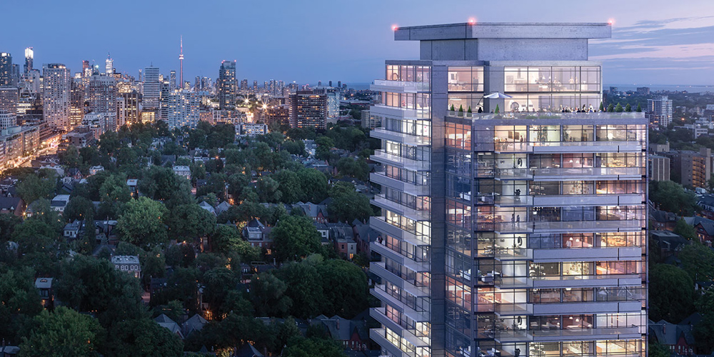AYC Condos - Avenue & Davenport • Metropia & DiamondCorpThe main tower will consist of 27 storeys with 236 residential units and 48 additional townhouse units. Designed by TACT Architecture on top of a beautifully landscaped community park. Estimated completion date set for 2020.