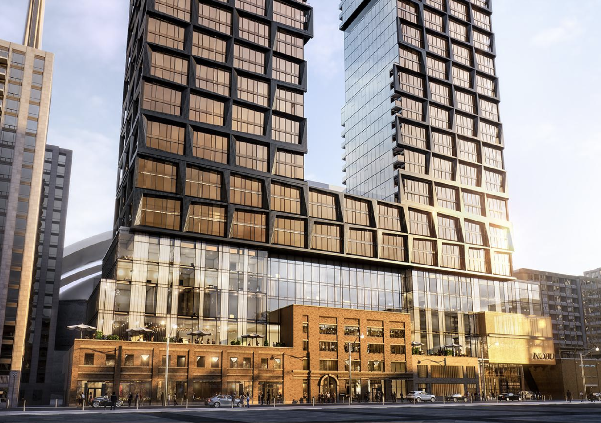 Nobu Residences - King & John • Madison GroupThe world's first Nobu-branded, condominium Residences located in the heart of Toronto's Entertainment District consisting of a U-shaped complex with twin 49-storey towers with 718 mixed condo units.