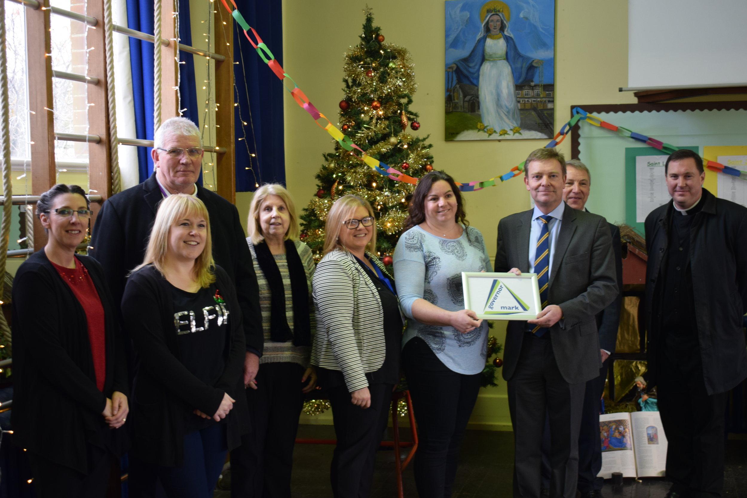 CM with St Ethelbert's Catholic School's Governors Dec17.jpg