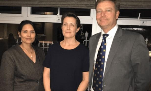 Rt Hon Priti Patel MP,Deborah Cartwright and Craig Mackinlay MP