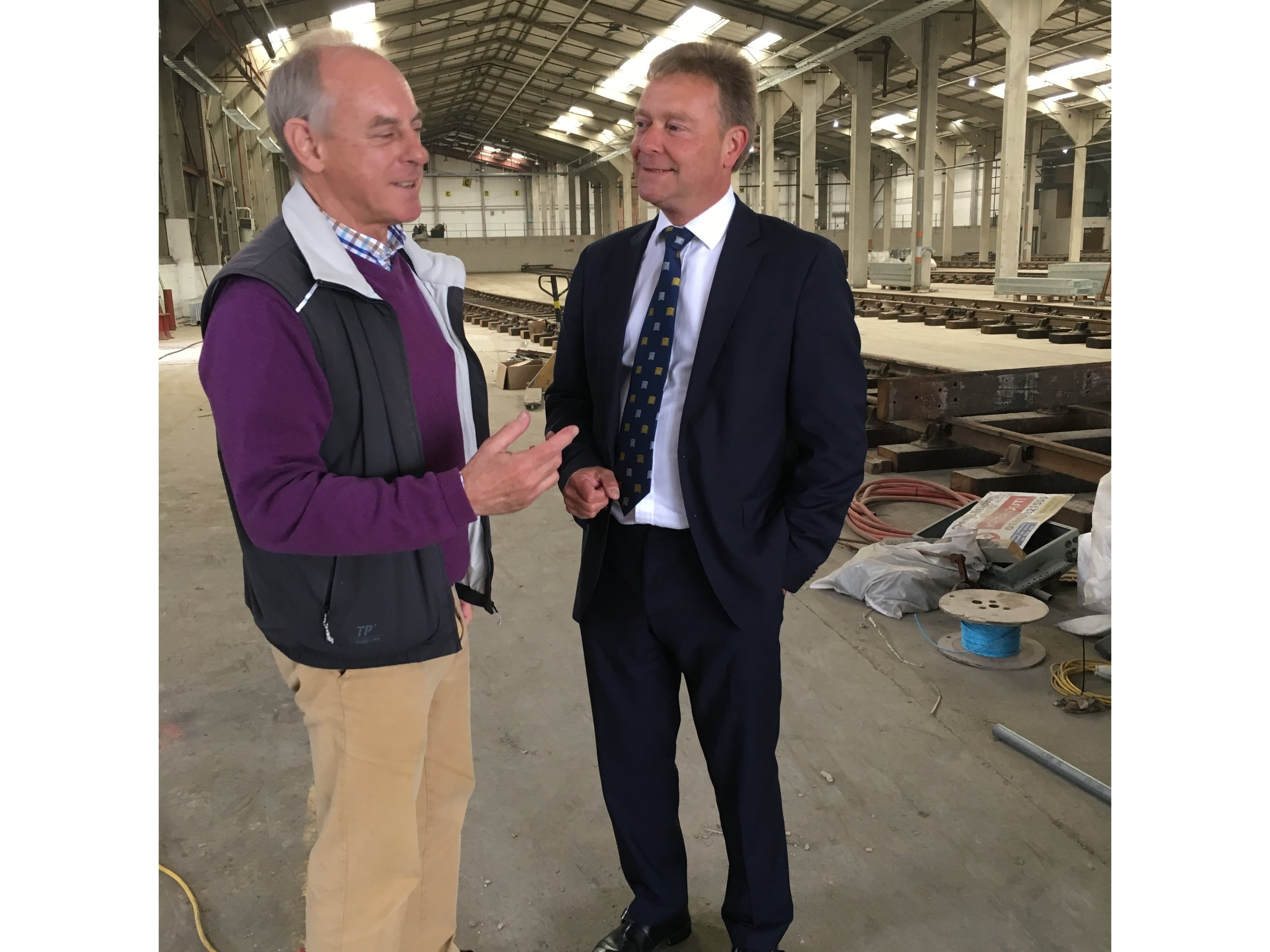 Craig pictured with Locomotive Storage Director, Frank Martin.