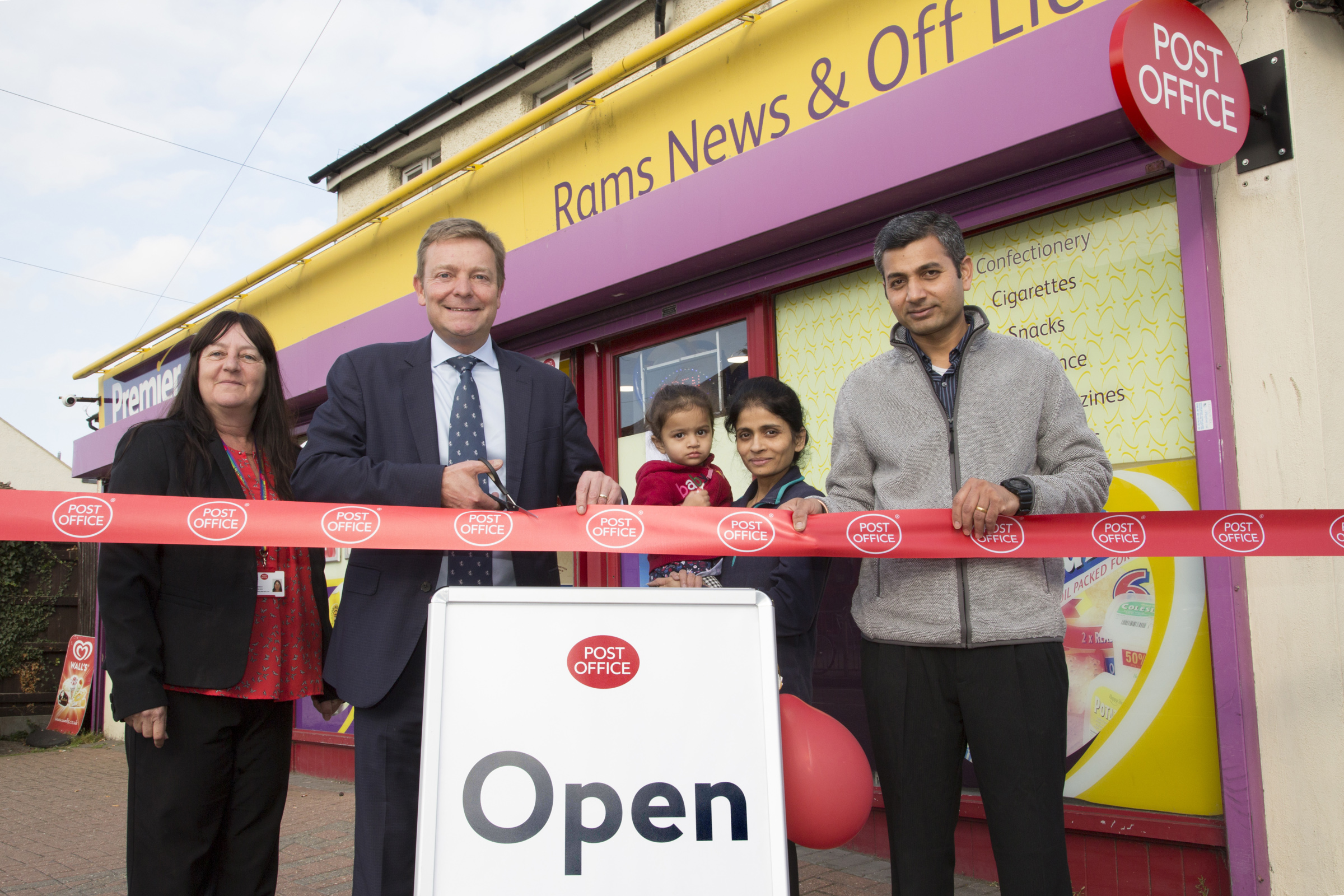 """Craig 'cutting the ribbon"""" at Newington Post Office in Ramsgate."""