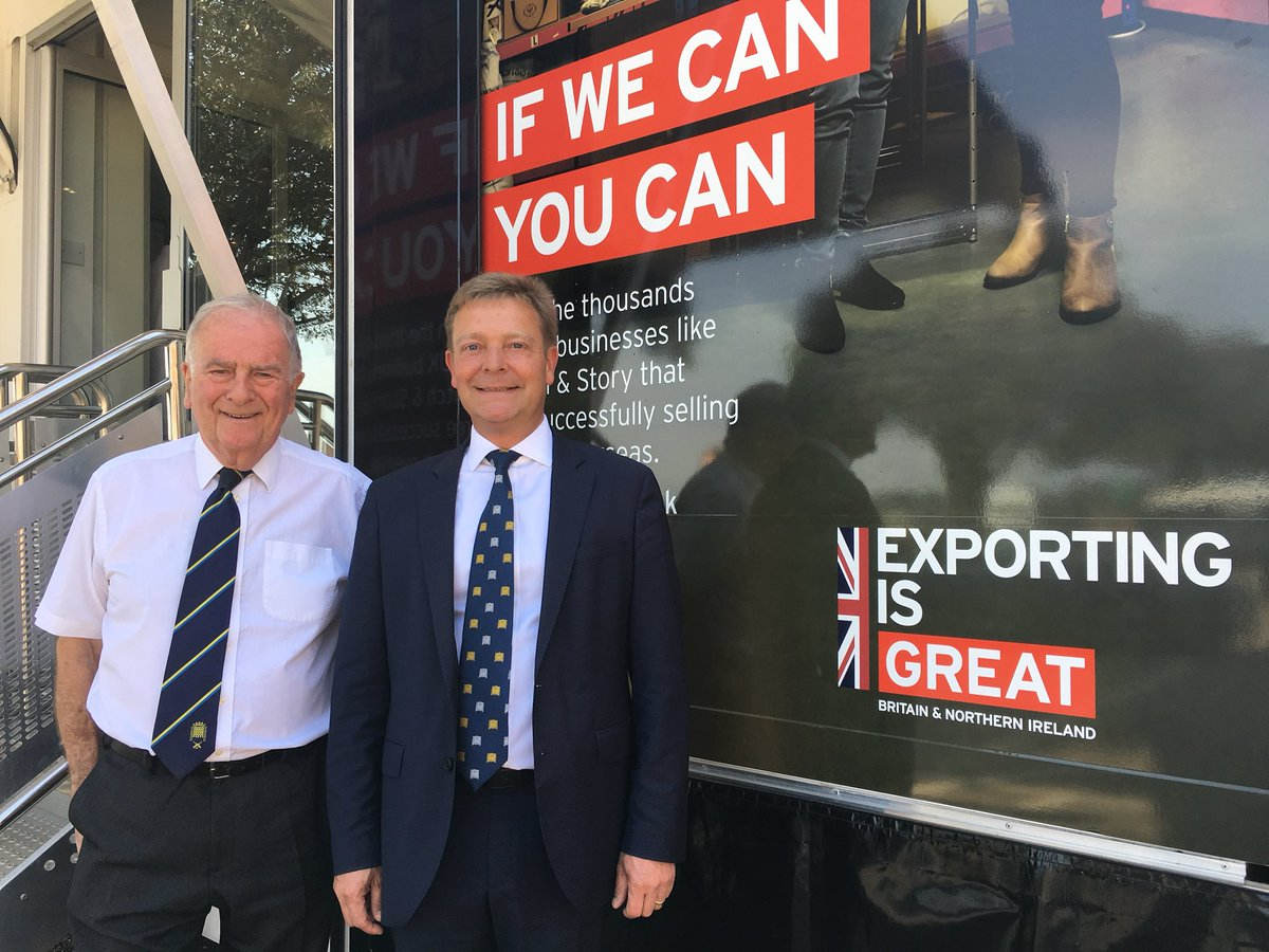Sir Roger Gale MP & Craig Mackinlay MP at a Thanet Export Event, July 2018.