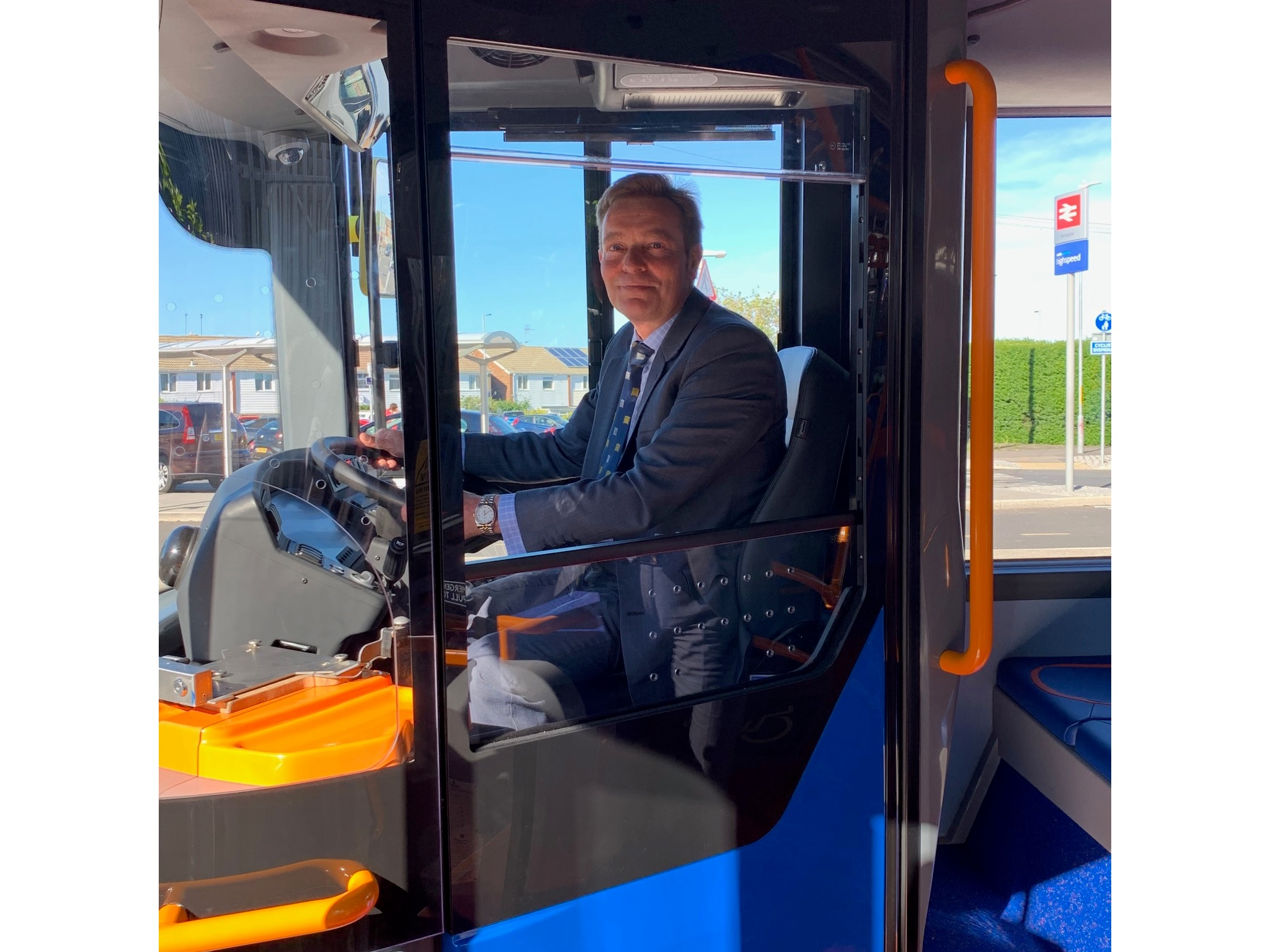 CM with Stagecoach & Alexander Dennis British built bus June19.jpg