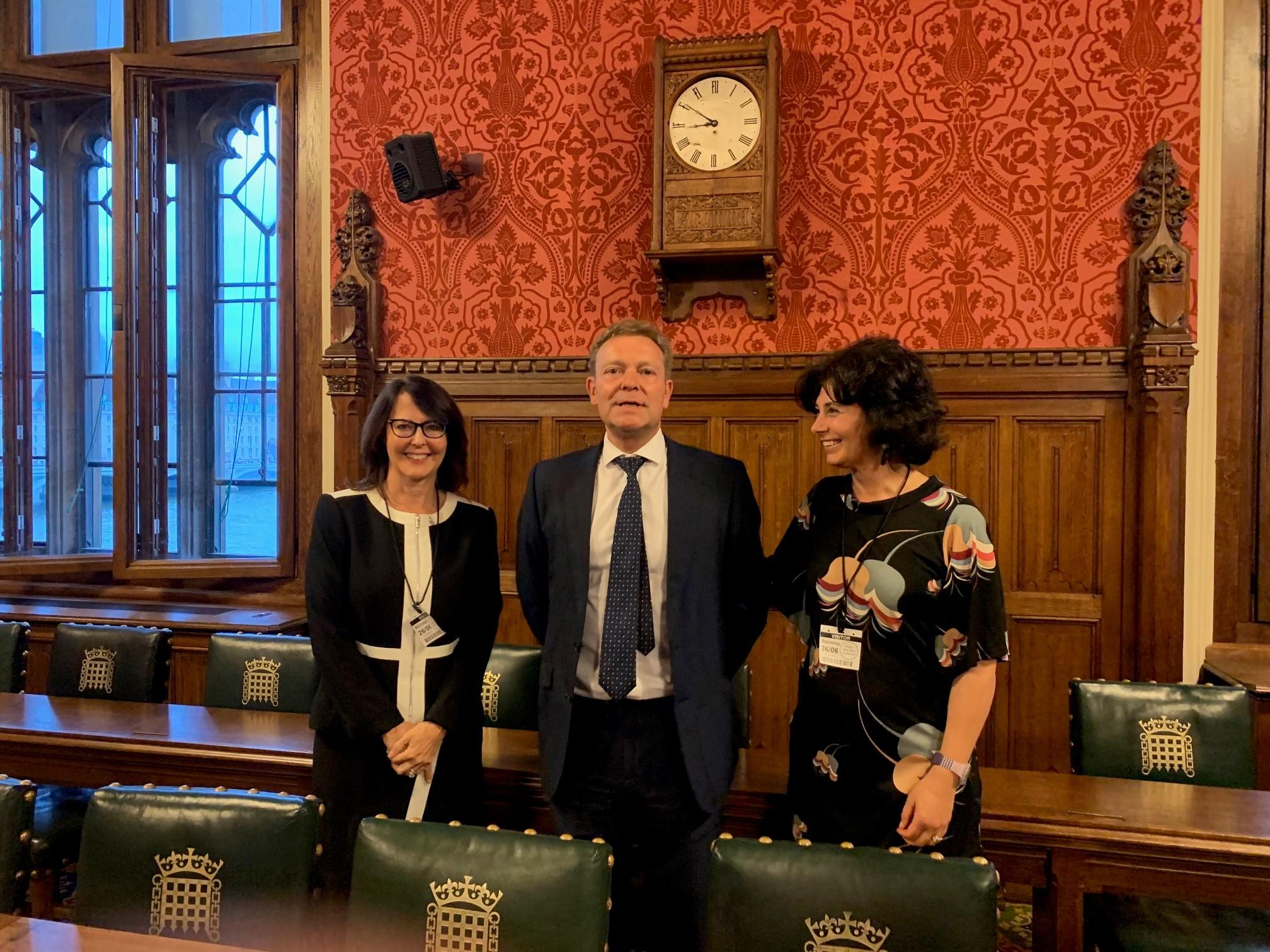 Jaime Vinck, Craig Mackinlay MP and Dr Di Forti