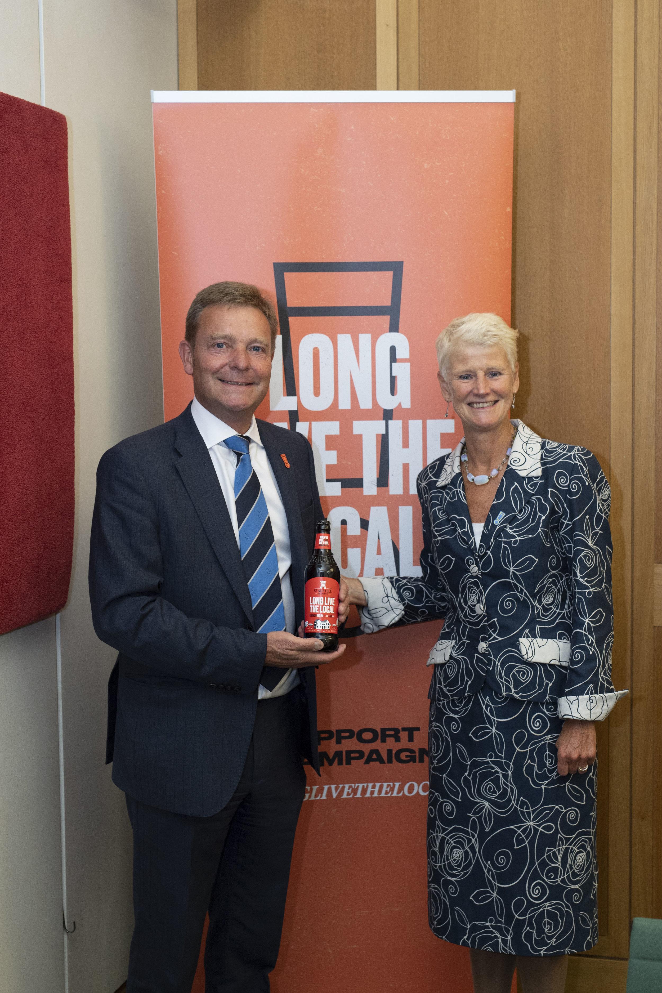 Craig with Brigid Simmonds, the Chief Executive of the British Beer & Pub Association