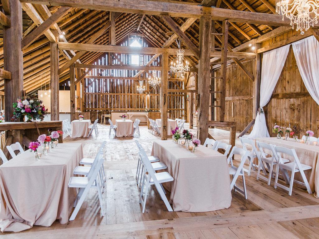 Wedding reception hall decoration