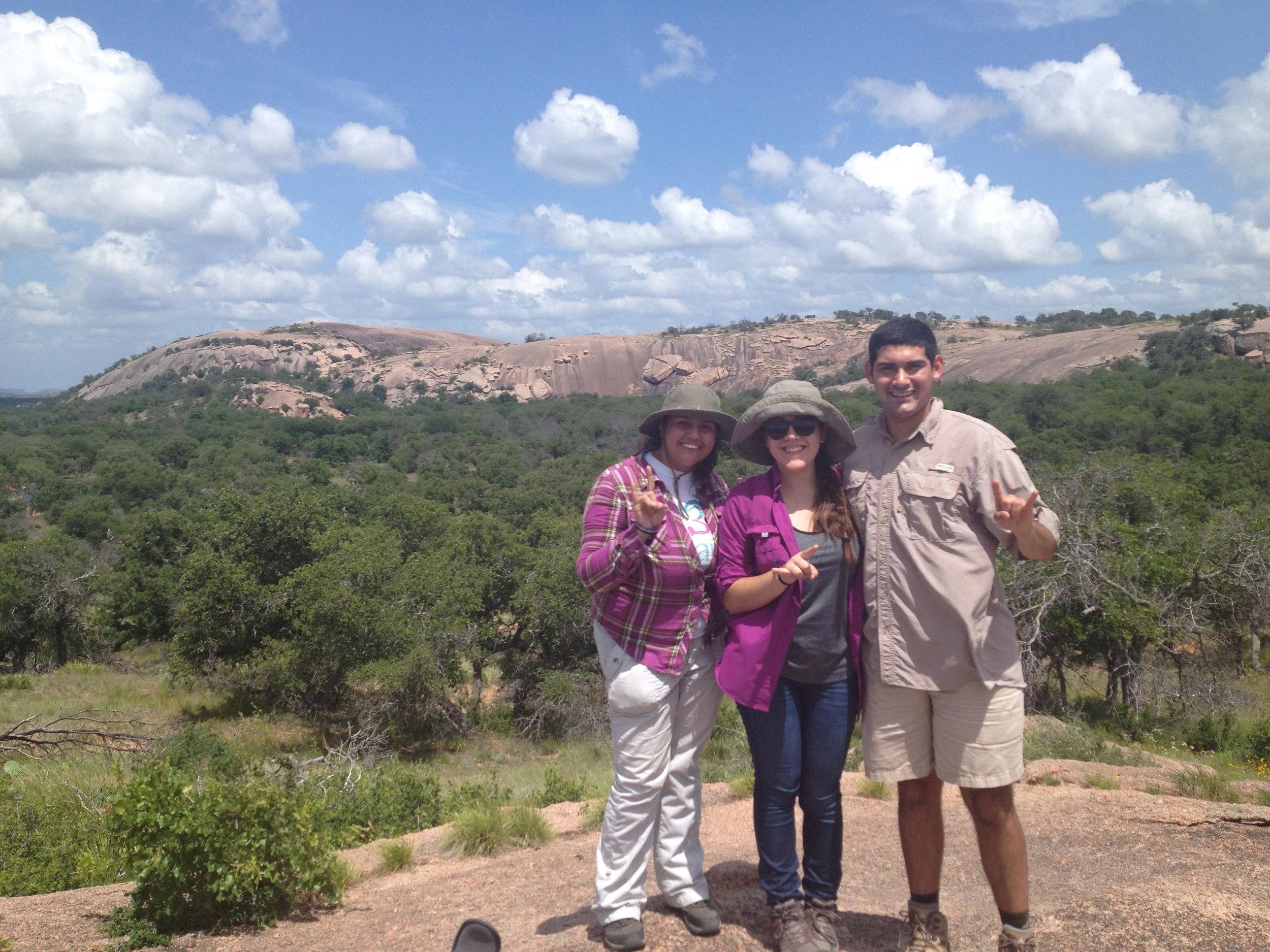 Summer interns in the Llano Uplift (Texas)