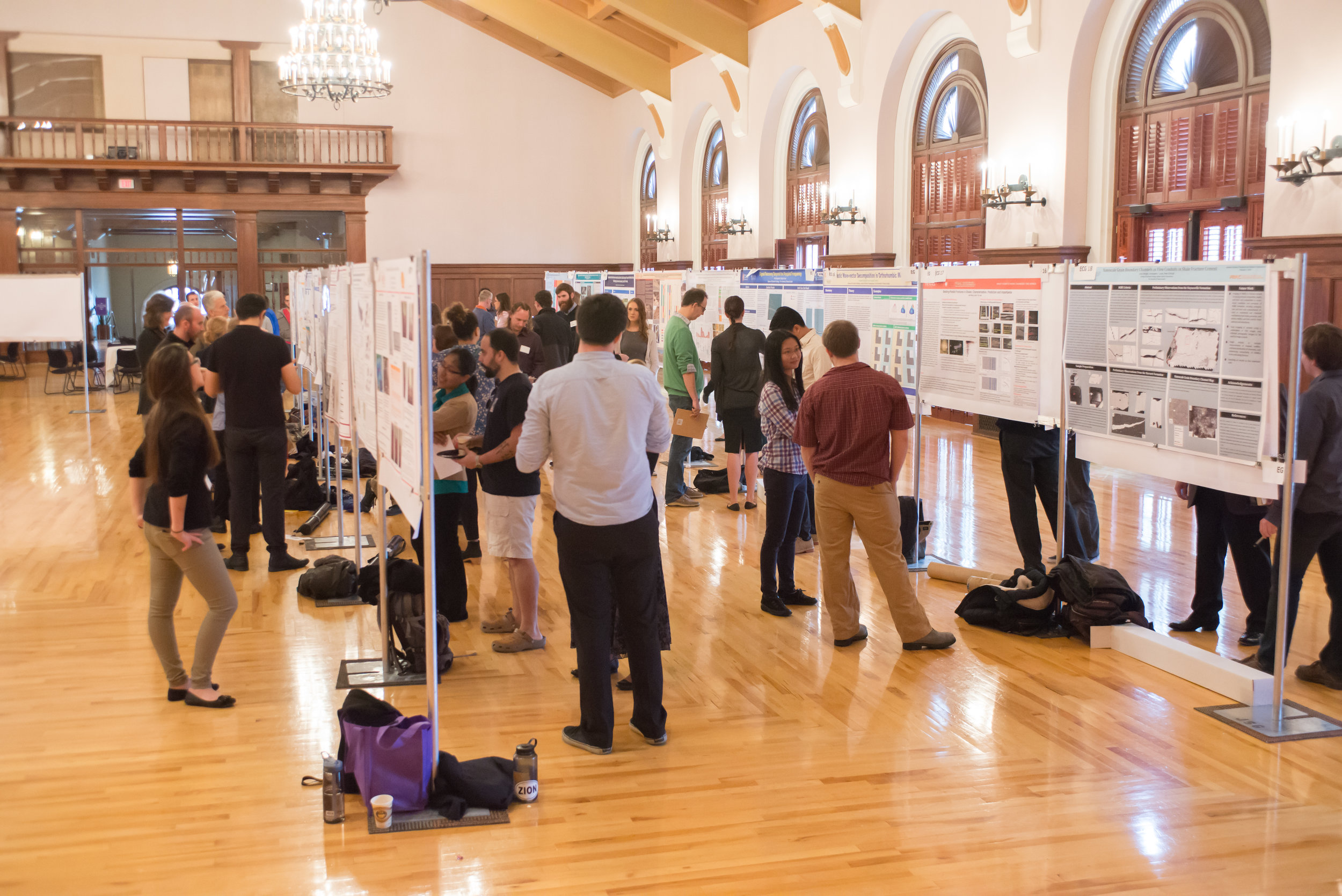 Students present at the Jackson School Research Symposium