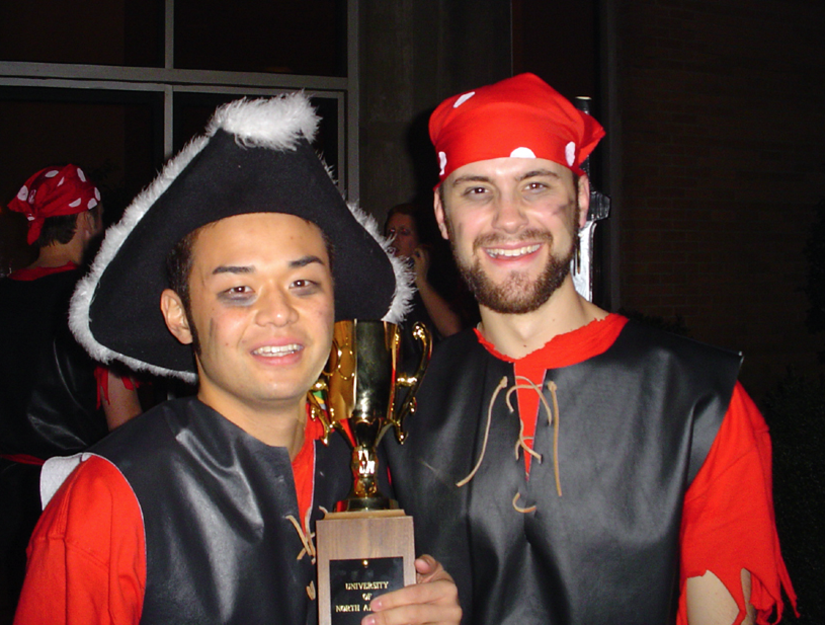 Hiro and I after a Step Sing win. 2005, I believe . . .
