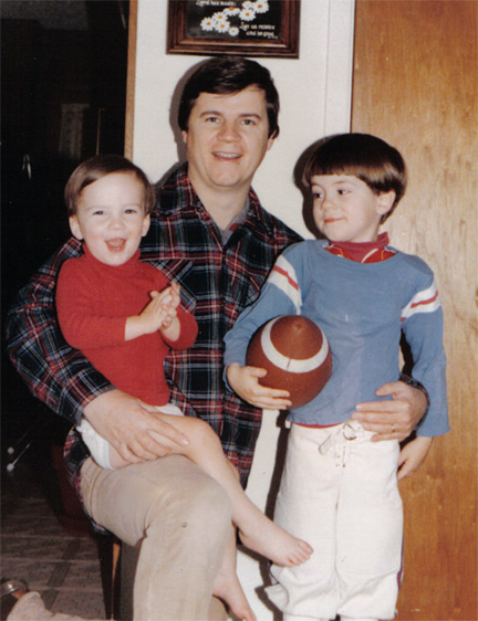 Dad with Brady & Brian, late '70s probably...