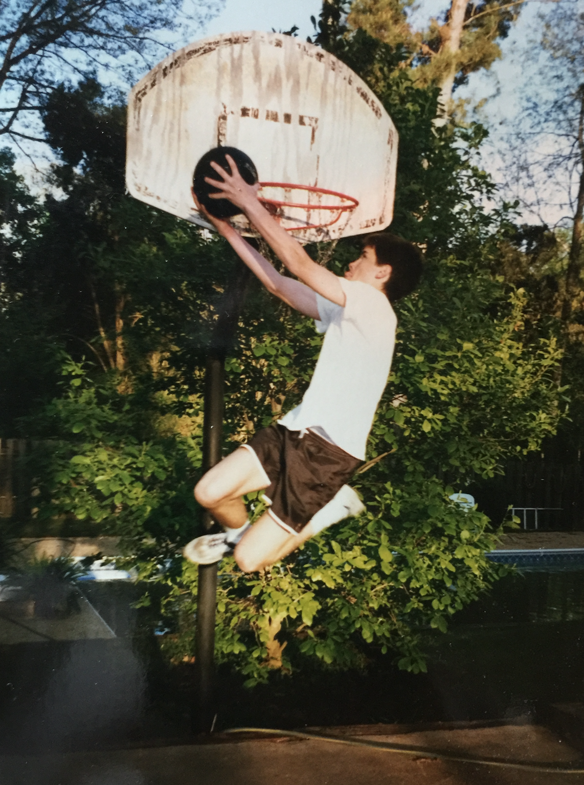 I was great at dunking in high school...on an 8-foot goal. #smh 😞