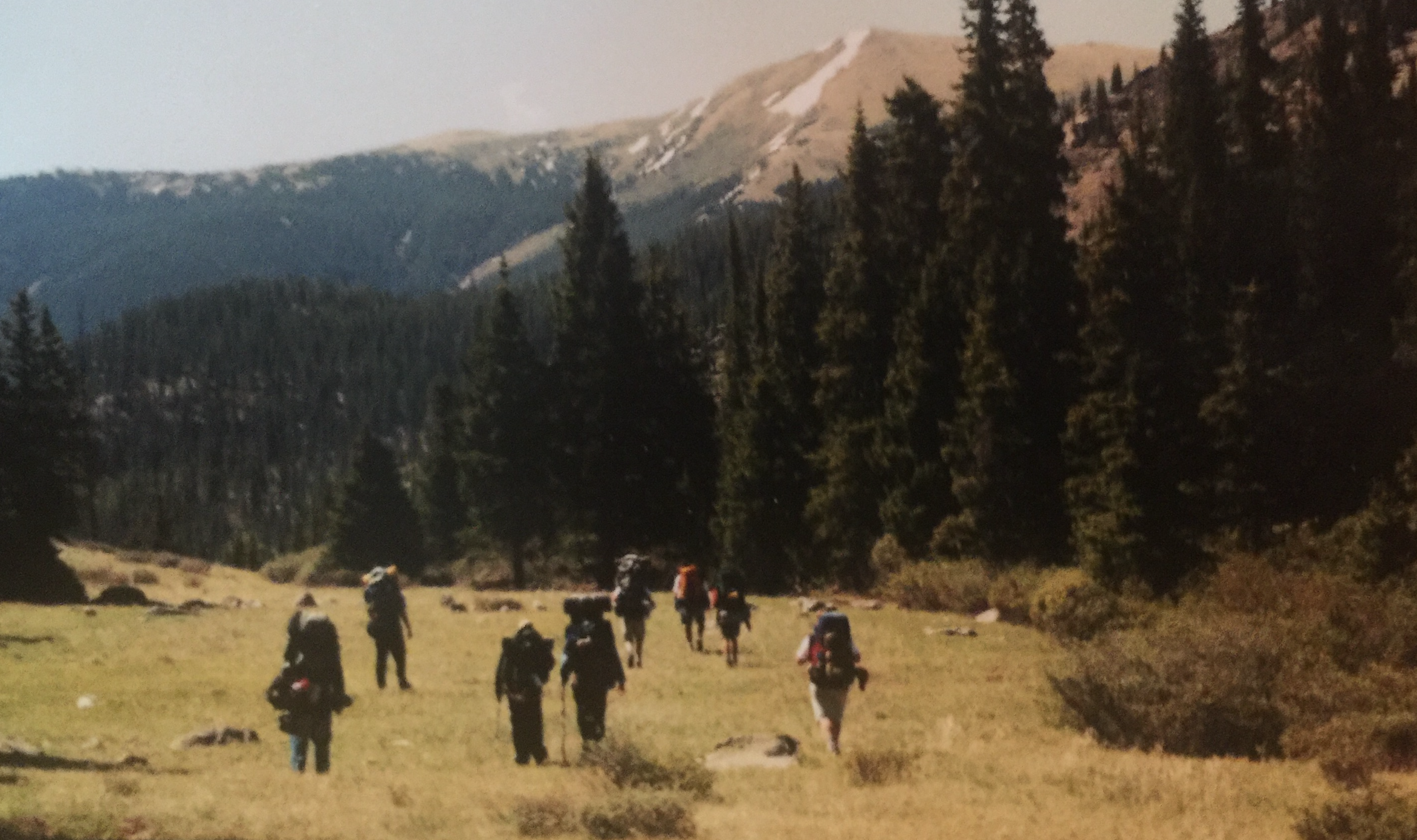 An actual picture of our Bama hiking group in Colorado.