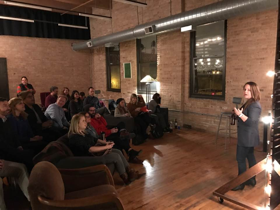 Spoke to some BBP readers in Chicago at an old furniture factory-turned-loft.