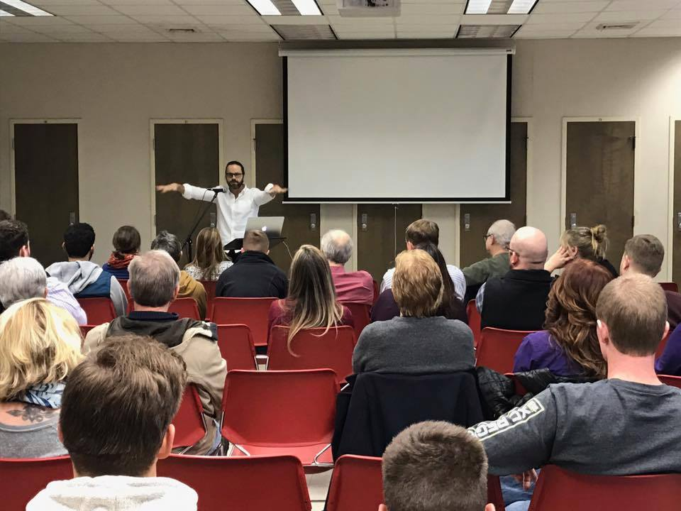 Spoke to a group of undergrads as well as a few folks from the public, courtesy of Counseling Services at the University of North Alabama in Florence.