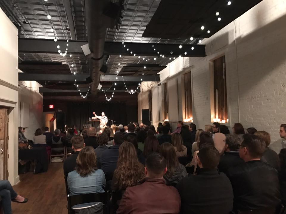 """Largest event in Florence was at a great venue called 116. E. Mobile. Nearly 100 folks came as I shared """"7 Ways to Keep the Conversation Going in the Shoals."""""""