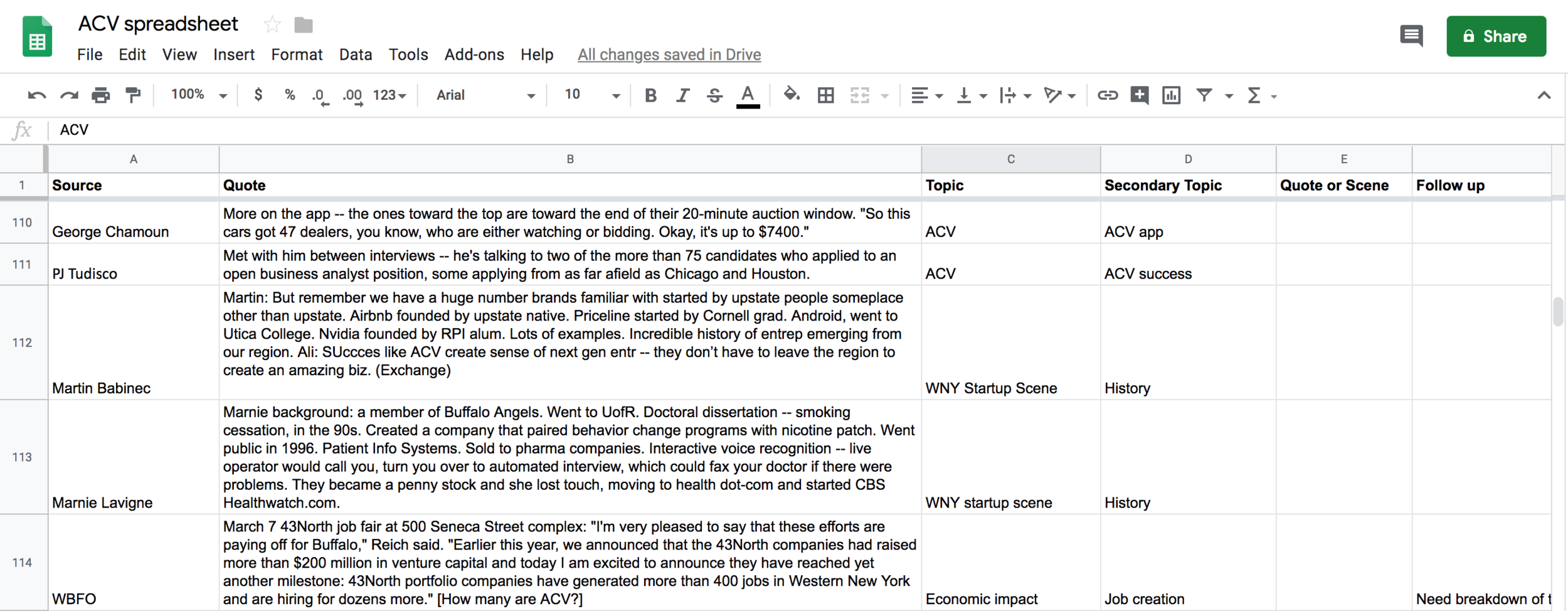 How to 'hack' the writing process with spreadsheets