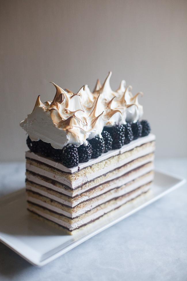 Blackberry Opera Torte by  @zoebakes . Find it  here .