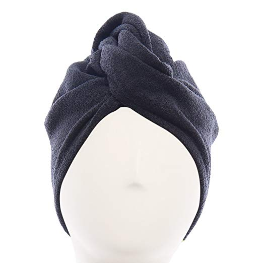 Aquis Original Microfiber Hair Turban, Black