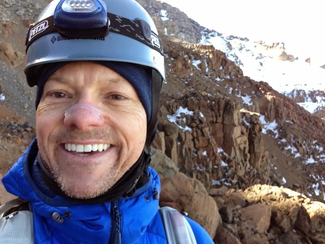 Tiger Beaudoin on the way to summiting Mt. Kilimanjaro