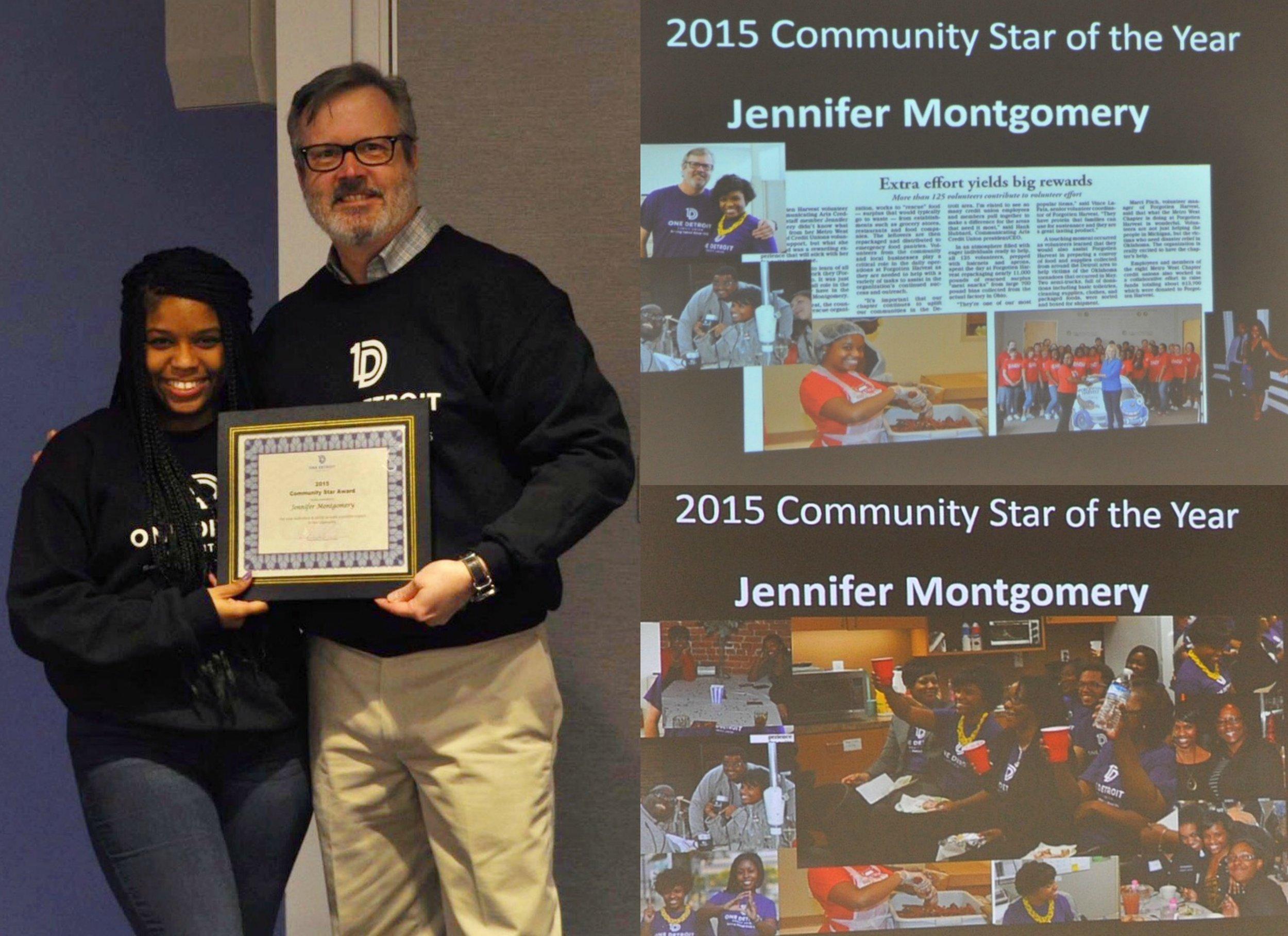 Jennifer L. Montgomery Community Star Award