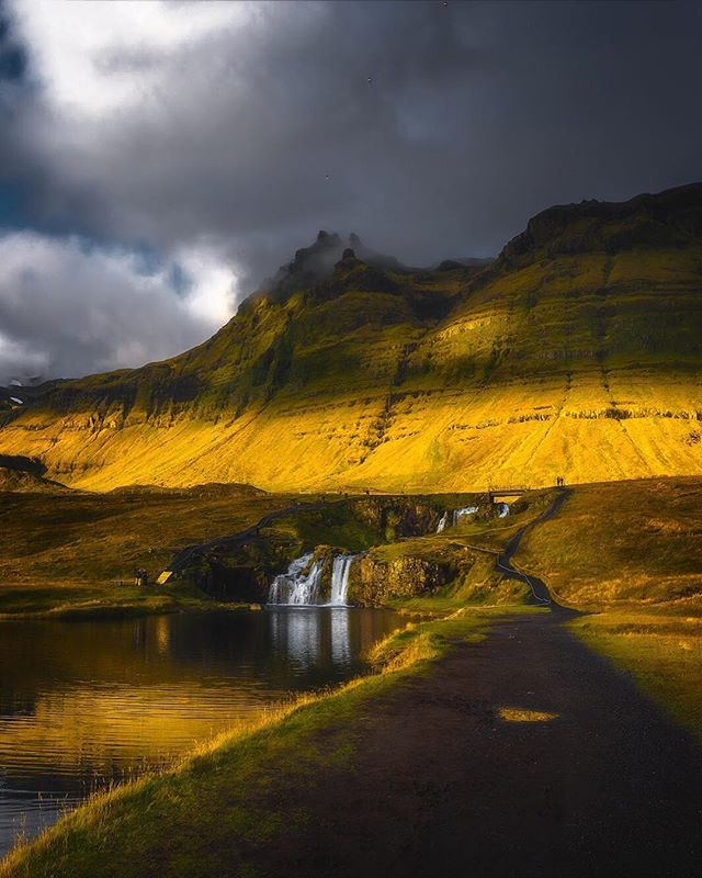 The waterfall pictured here is the waterfall which can be seen in the foreground of just about every contemporary Kirkjufell shot. This is where photographers and tourists set-up their tripods and capture that iconic Kirkjufell composition, which, if you look at my gallery, it's the 9th (most recent) photo down. But I'd like to think this photo is proof that no matter where you point your camera in Iceland, there is beauty to be glimpsed. ——————— #Wheniniceland #icelandtravel #withmytamron #exploreiceland #discovericeland #iceland #bestoficeland #ig_iceland #tlpicks #ourplanetdaily #icelandair #bbctravel #aov5k #mystopover #icelandsecret #ournaturedays #earthpix #earthfocus #earthofficial #stayandwander #wonderlusticeland #thelensbible #inspiredbyiceland #artofvisuals #bbcearth #agameoftones #igrefined #natgeotravel #whyiceland #discoverearth