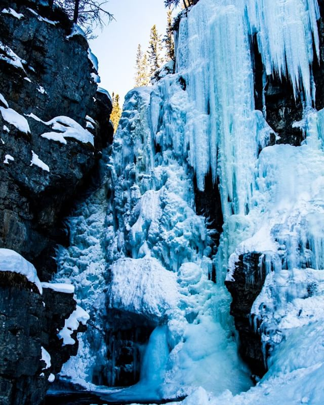 Ice is amazing! I was inspired by the beauty of natural ice formations in #johnstoncanyon in #banff , #alberta. I may just have to pick up ice climbing as my new hobby. #photography and #filmmaking have taken me to some amazing places, this opportunity provided by the #adventuretraveltradeassociation at #attaelevate or the #adventureelevate conference. Also a really great networking opportunity. #photooftheday #icefalls #waterfall #iceclimbing #travelalberta #visitbanff #travelphotography #liverad #adventureisoutthere