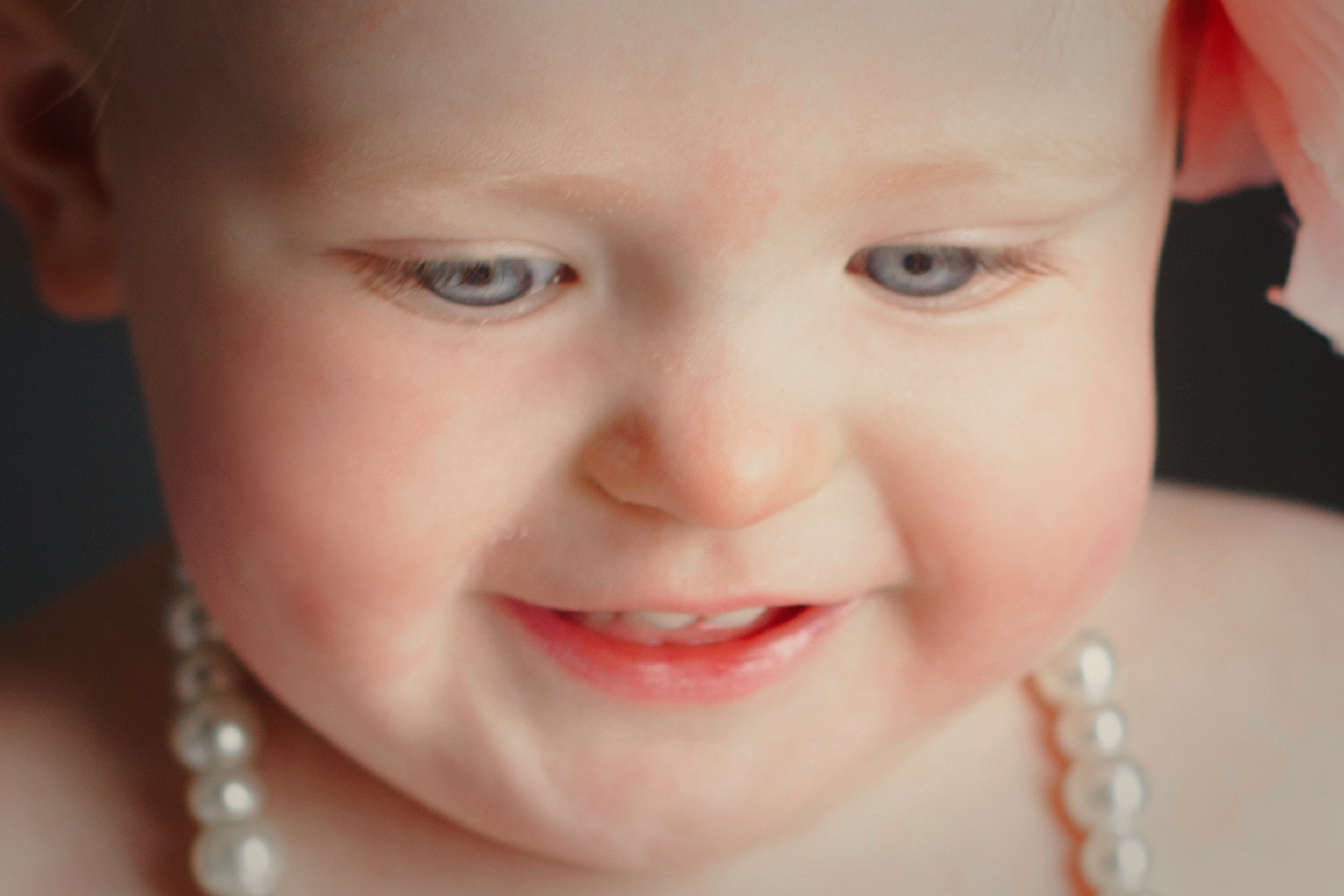 little girl - closeup - smile - innocense