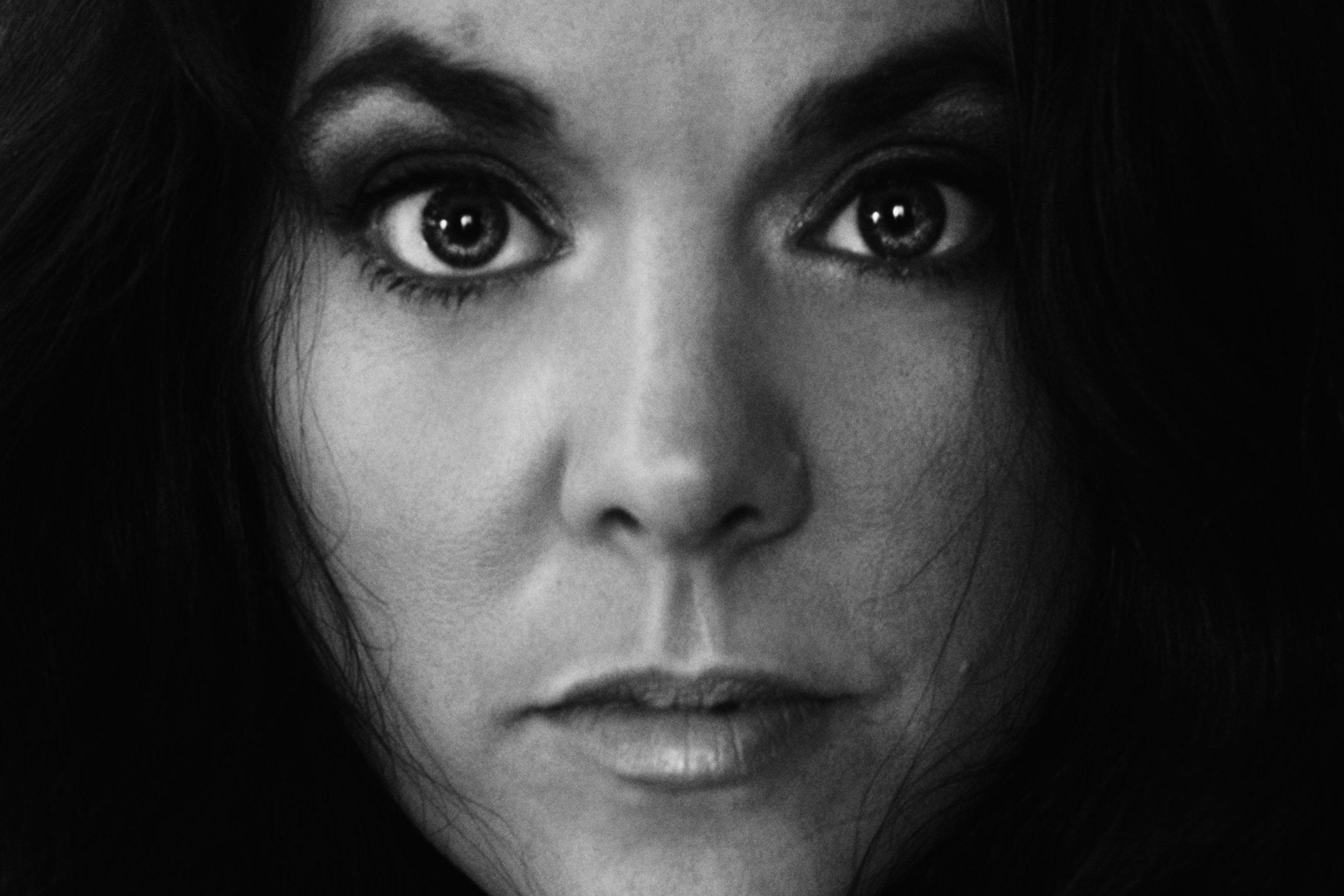 self portrait - light and dark - black and white