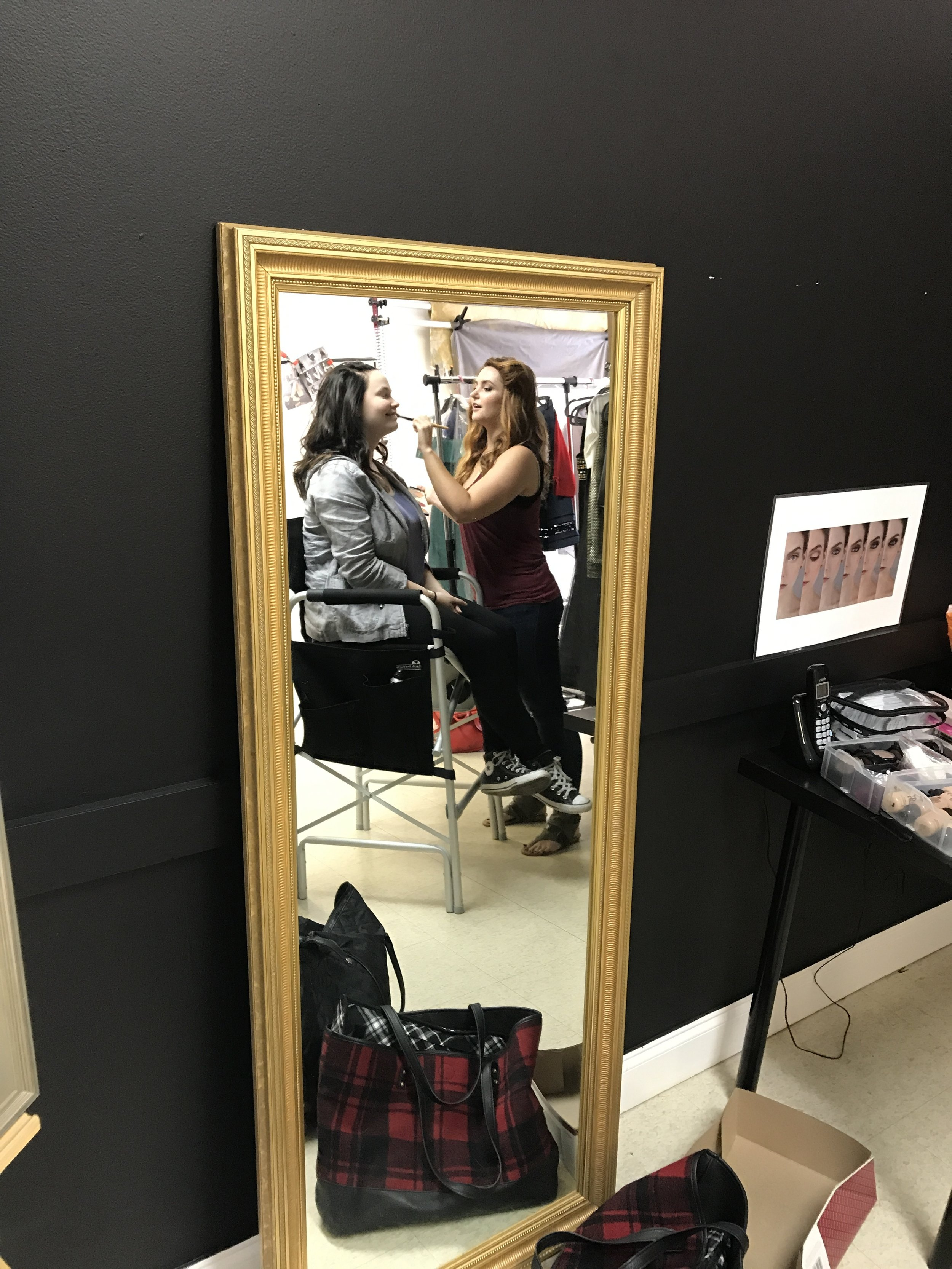 bts - behind the scenes - professional hair and makeup