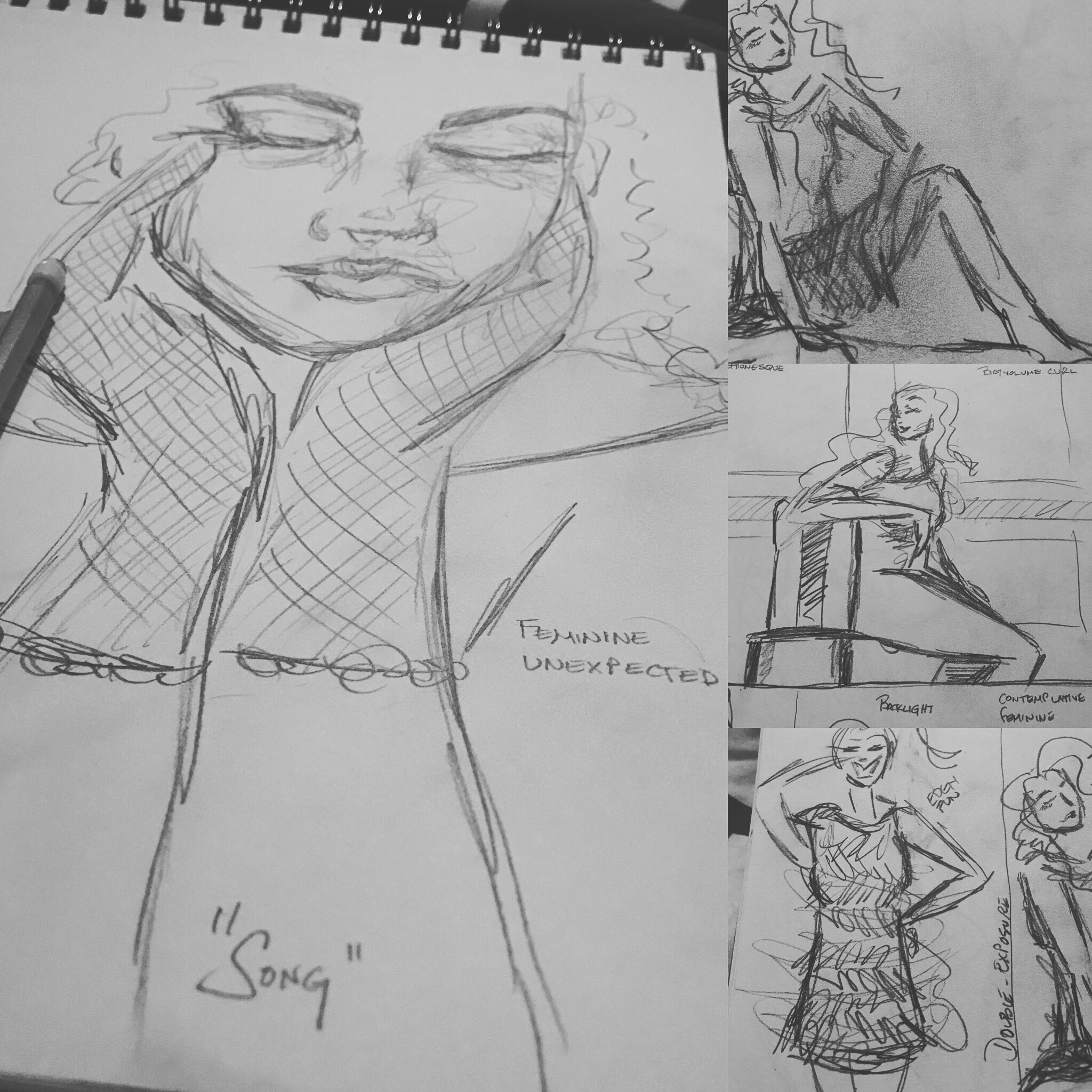 sketch - planning your photo shoot - tailored session - design 0 fashion inspired - magazine style