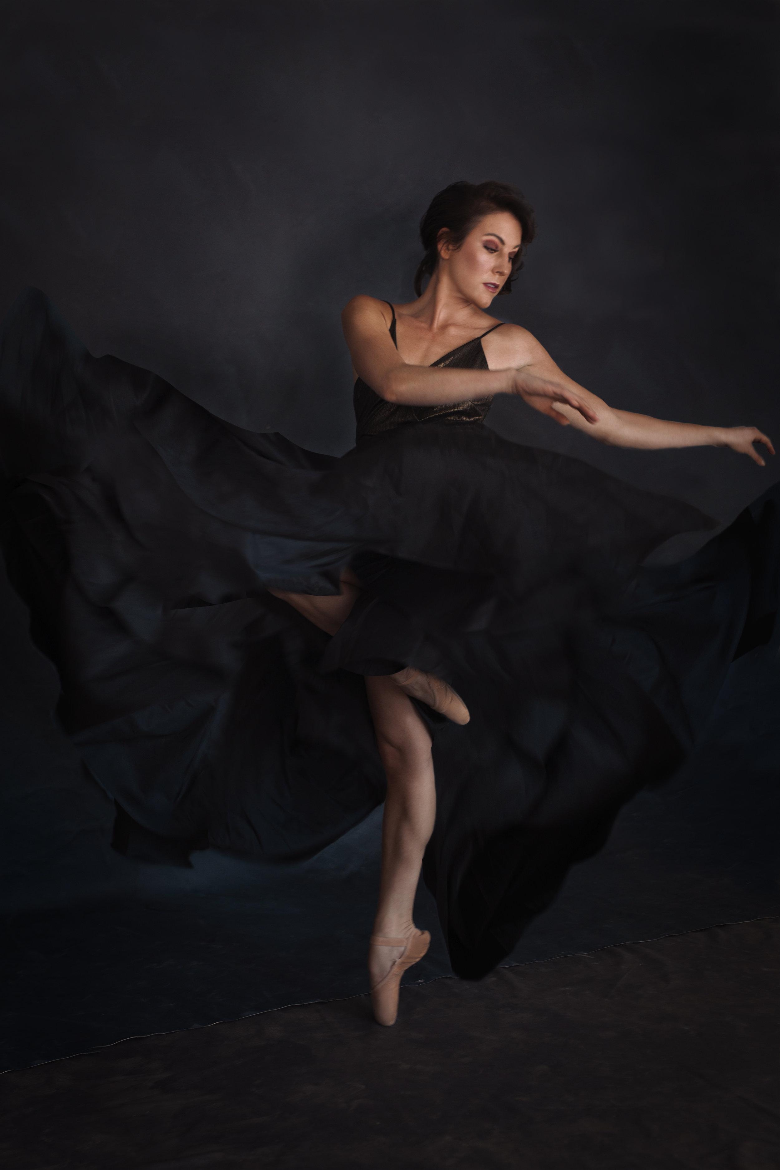 ballet photos - portrait of a dancer - Asheville dance photographer - photo studio