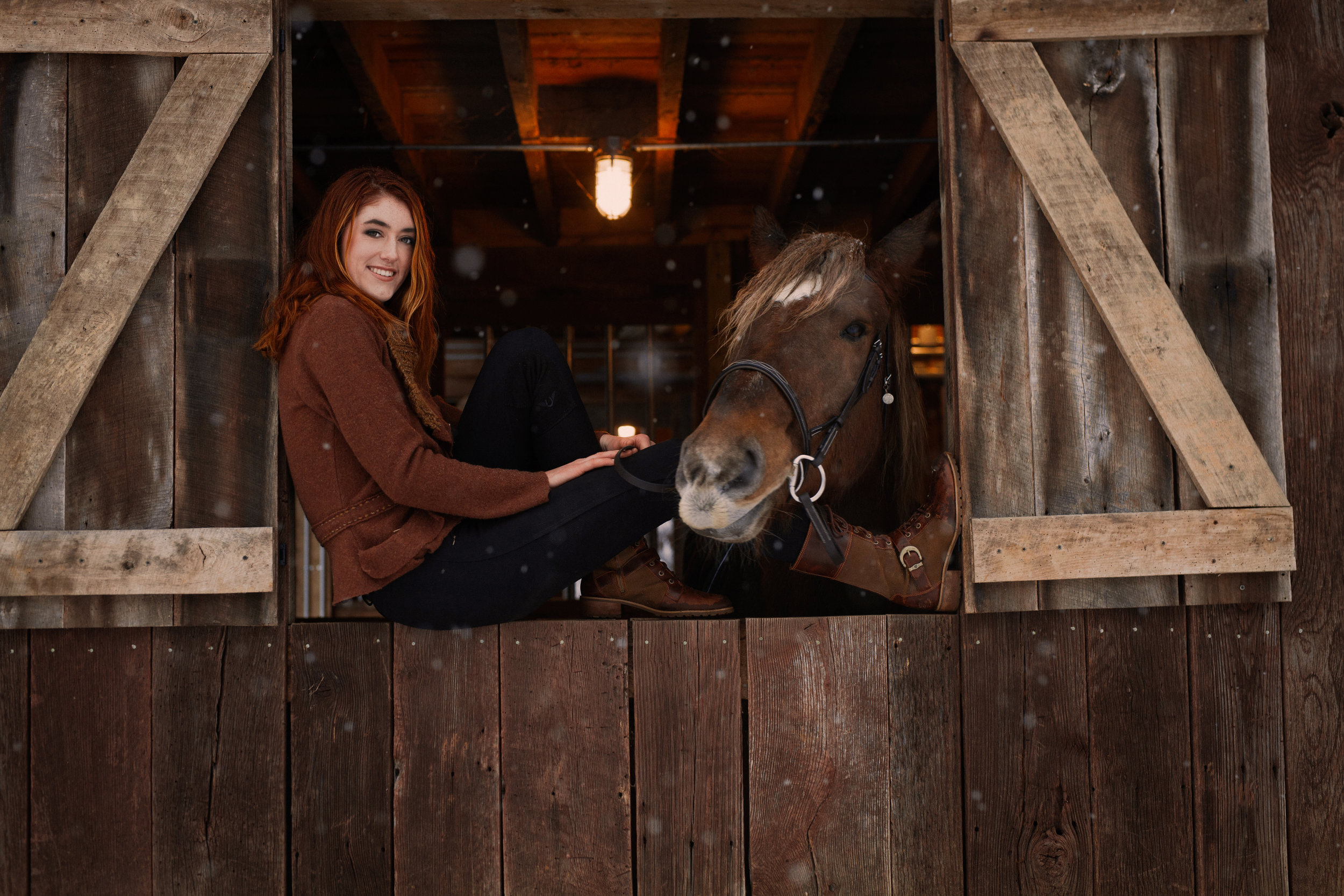 Belle Crouse and her horse, Dusty December 2017