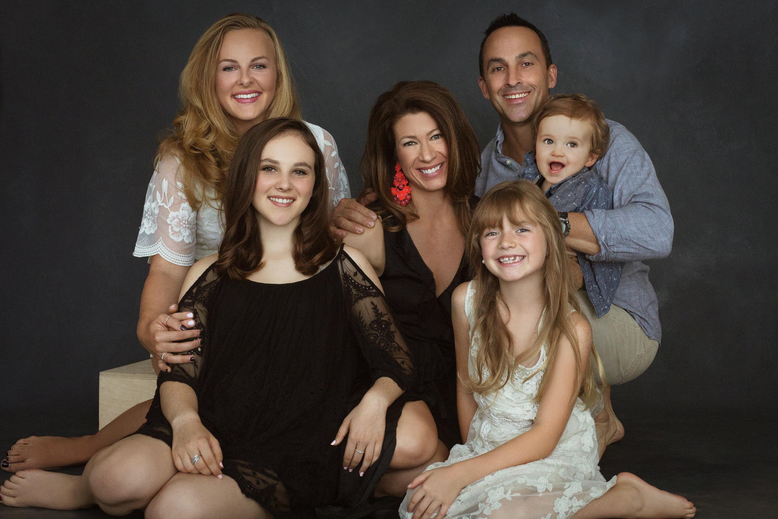 blended family photos - Asheville - Wnc - photo studio - portrait