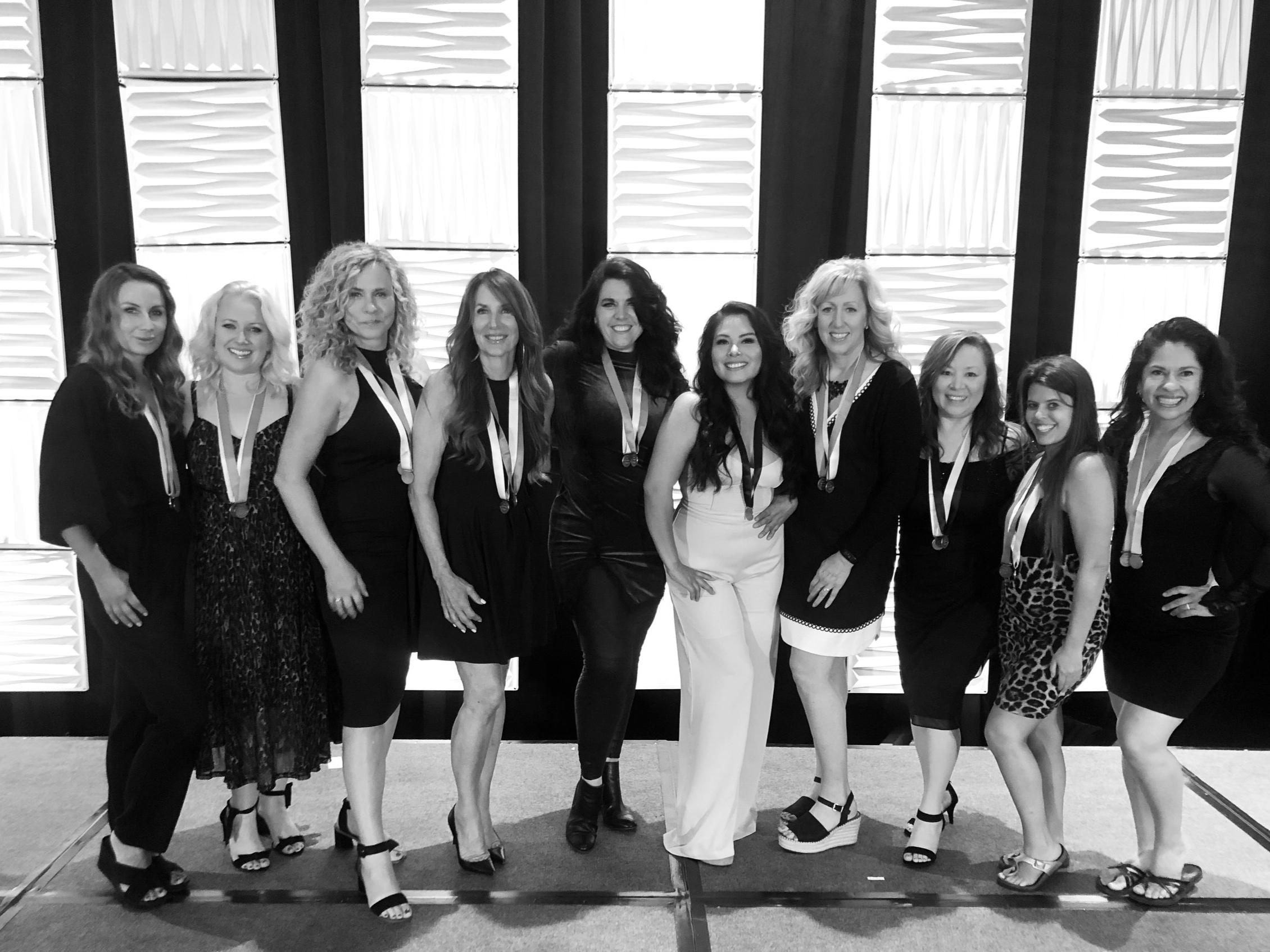 L to R: Lenka Jones, Michelle Taylor, Ann Landstrom, Kitti McMeel, myself, Saray Tylor Roman, Tammy Zurak, Bethany Johs, Ashleigh Taylor Henning, Rosaura Sandoval