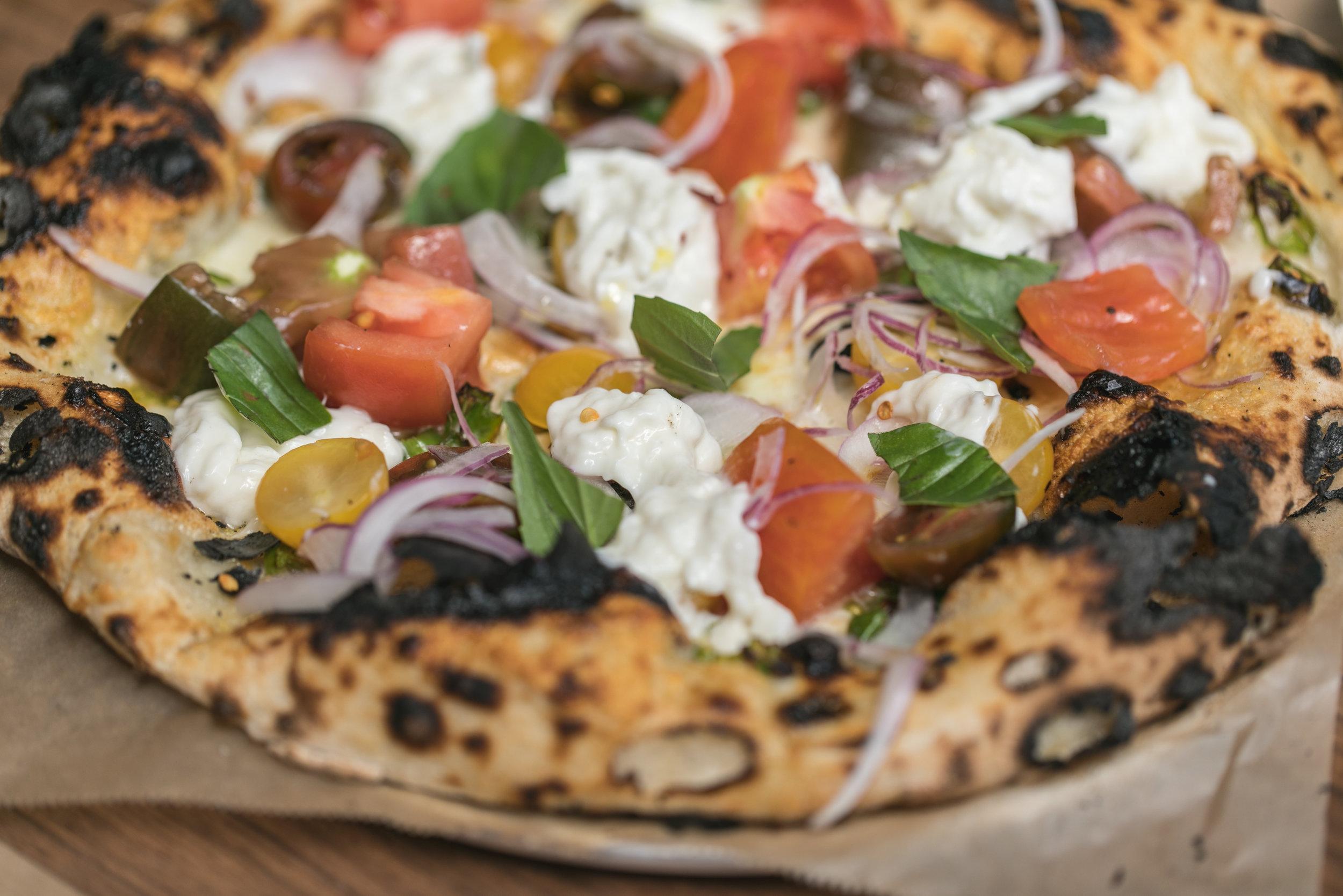 Heirloom Tomato Pizza at  L'Amico