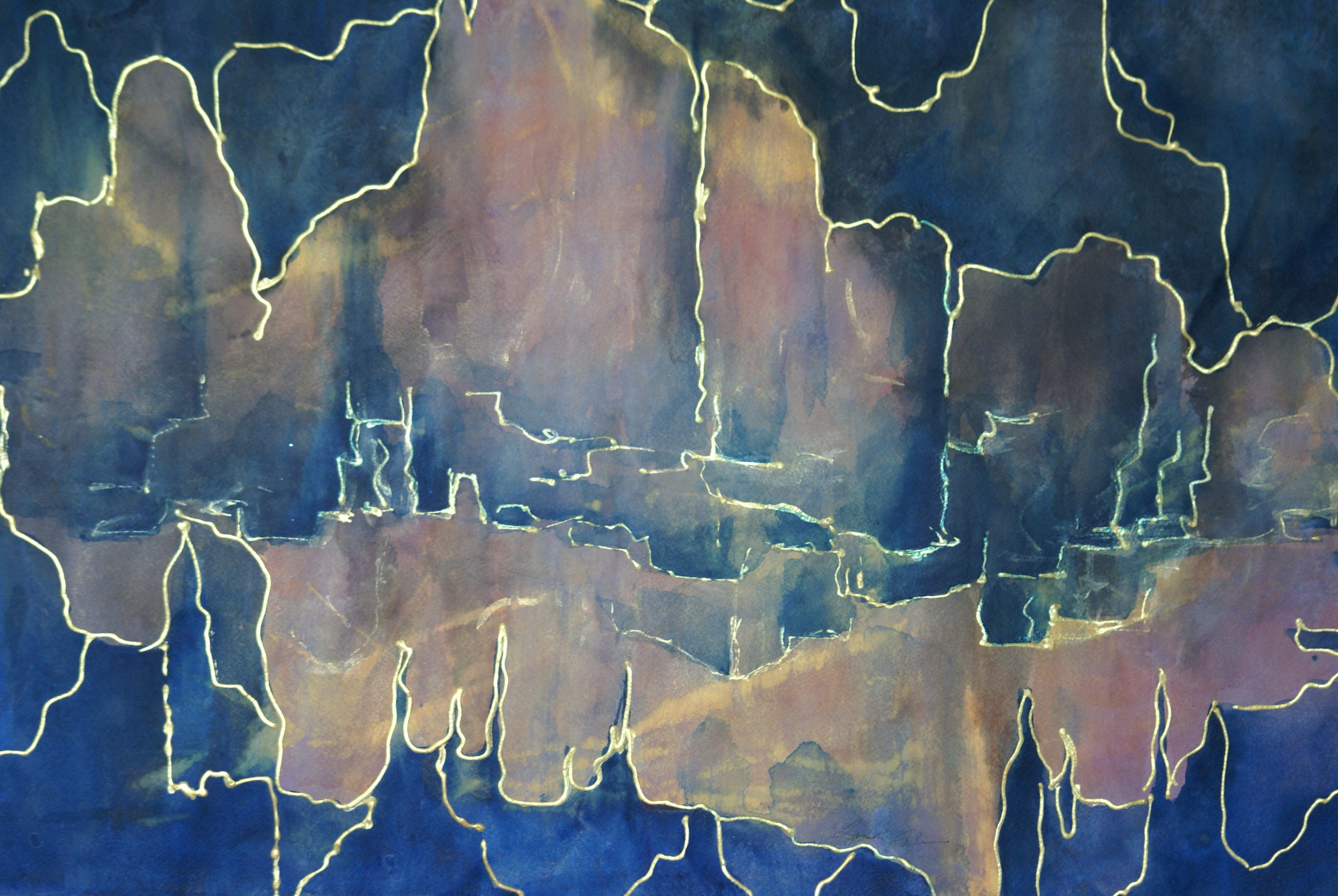 """""""Canyon Reflections"""" $695 framed"""