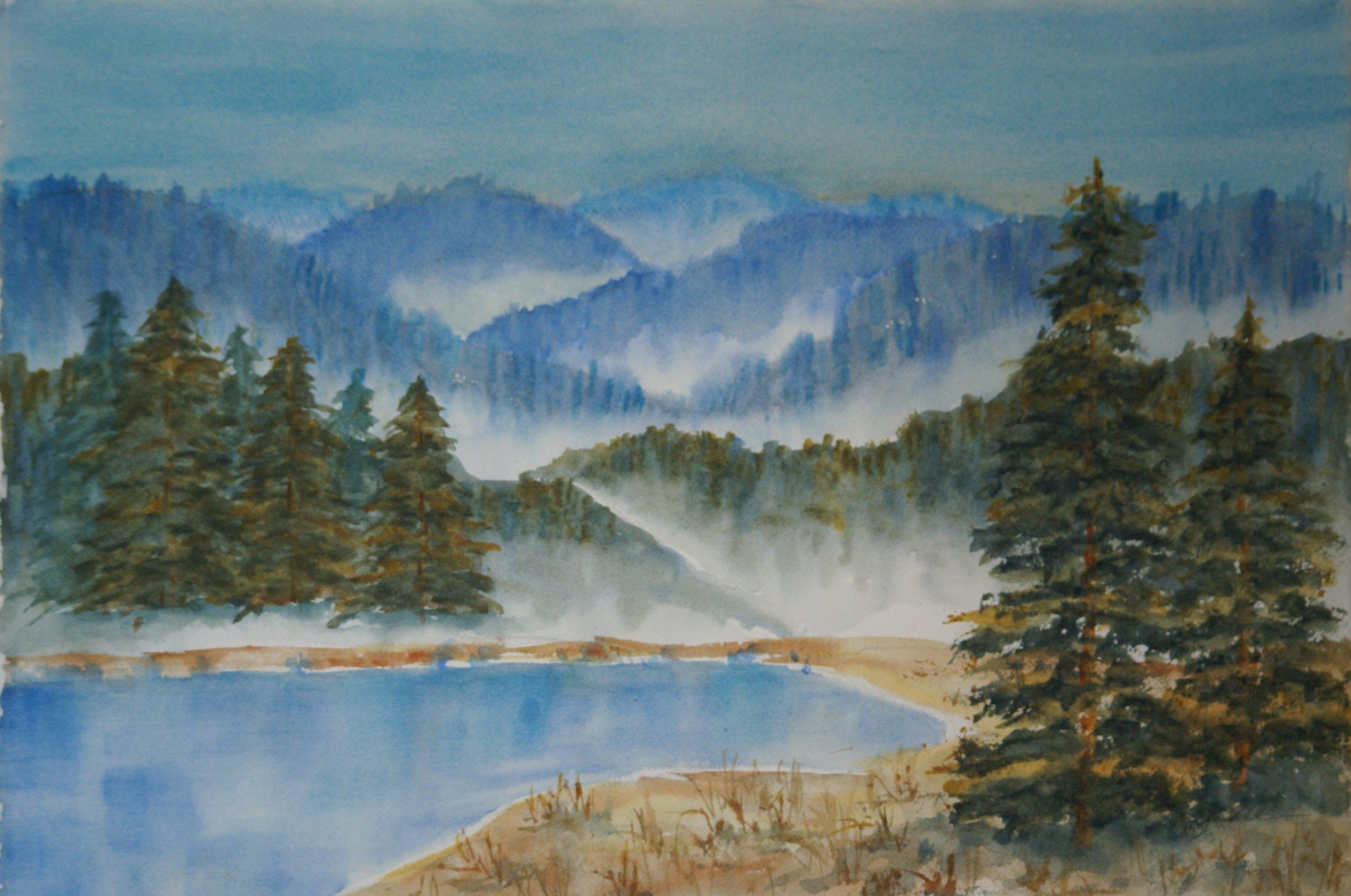 """""""Foggy Morning"""" $695 framed"""