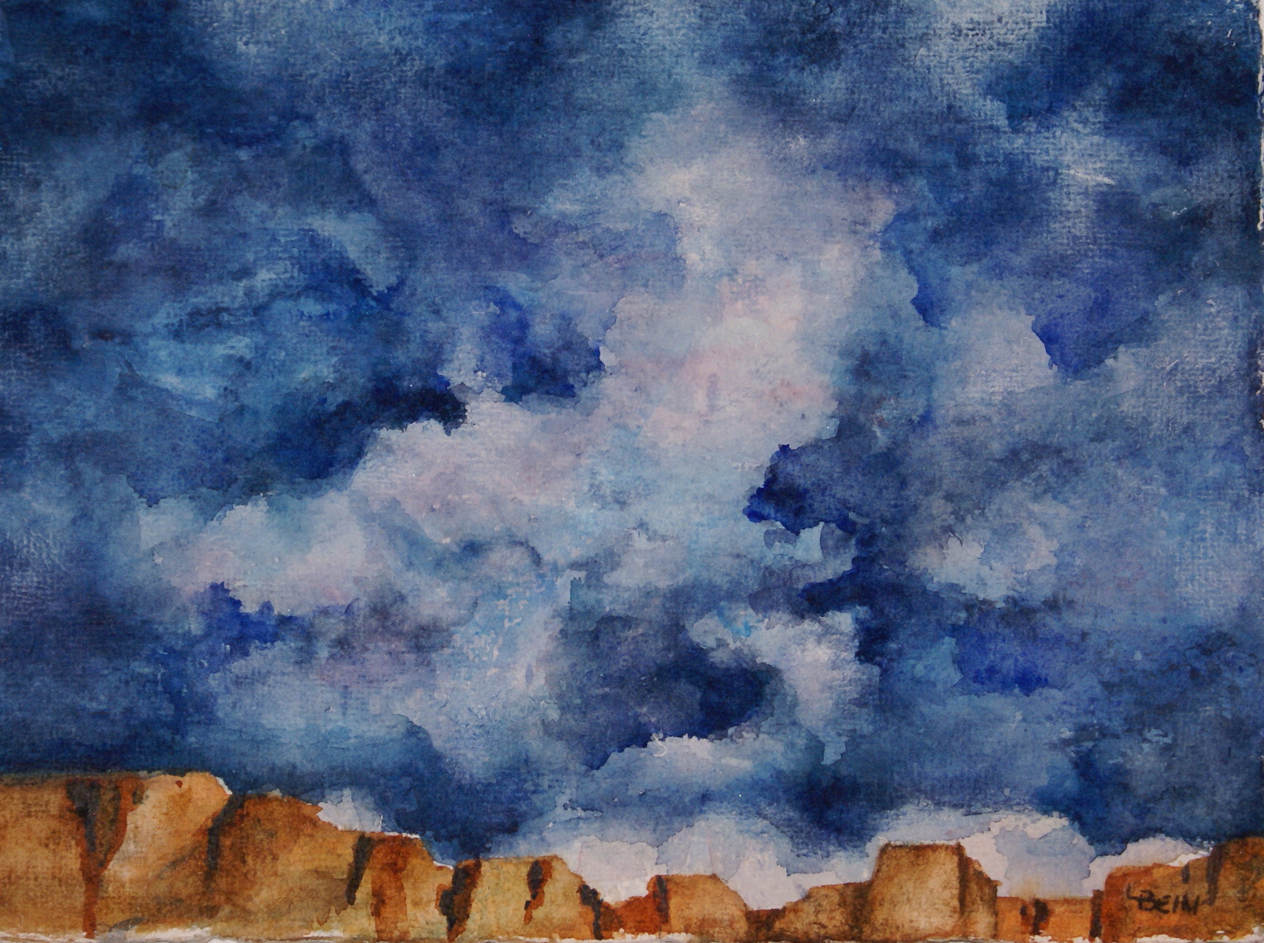 """""""Stormy Skies over the Plateau""""  #116 $55"""